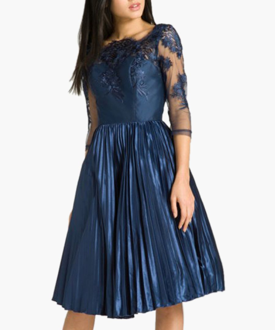Cadence navy knee-length dress
