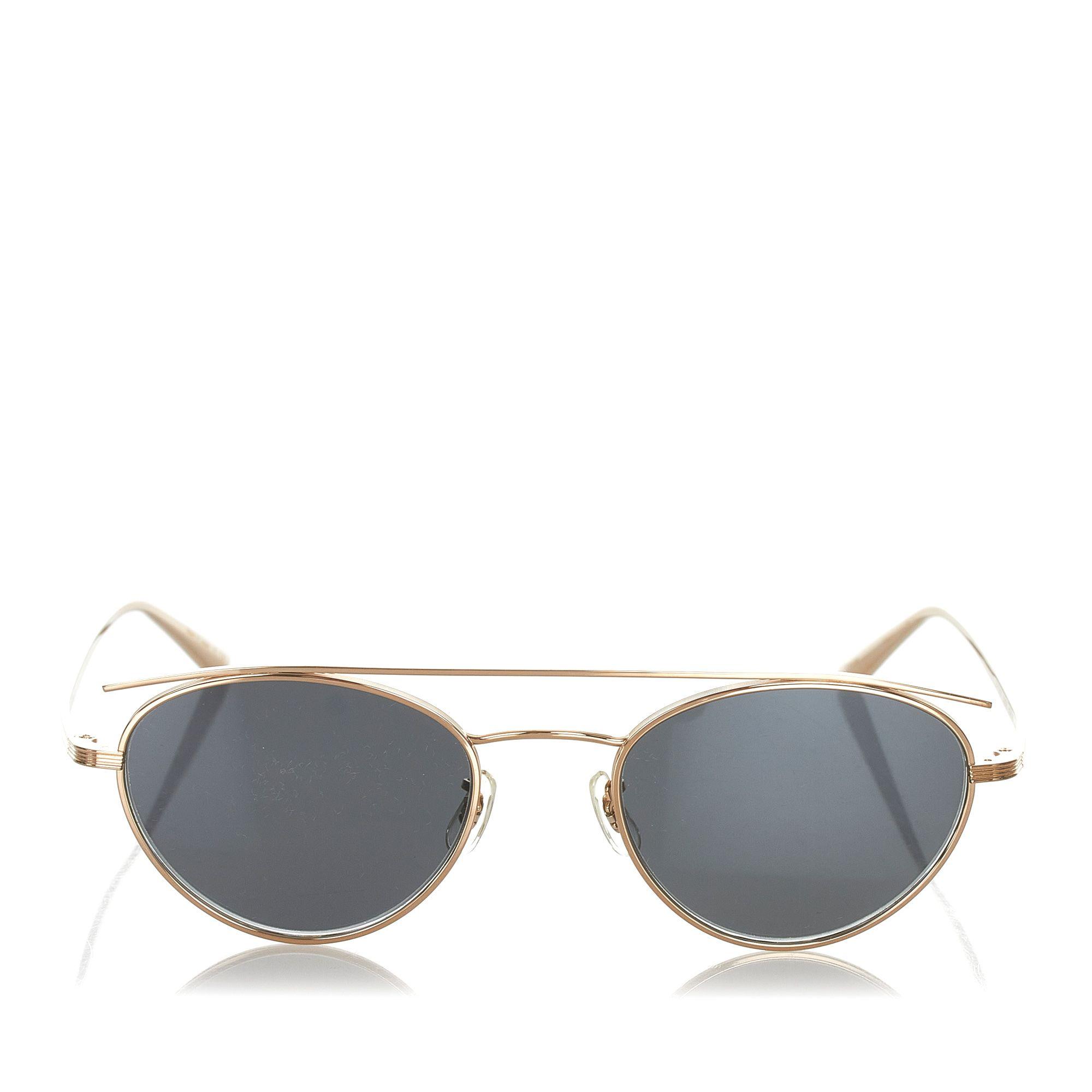 Vintage Oliver Peoples Round Tinted Sunglasses Black