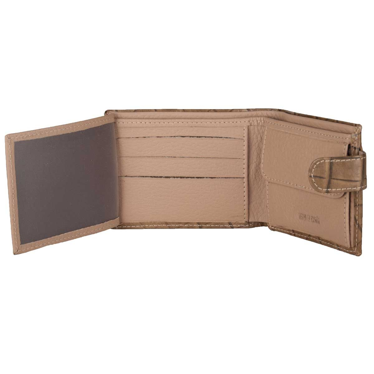Montevita Leather Wallet in Taupe