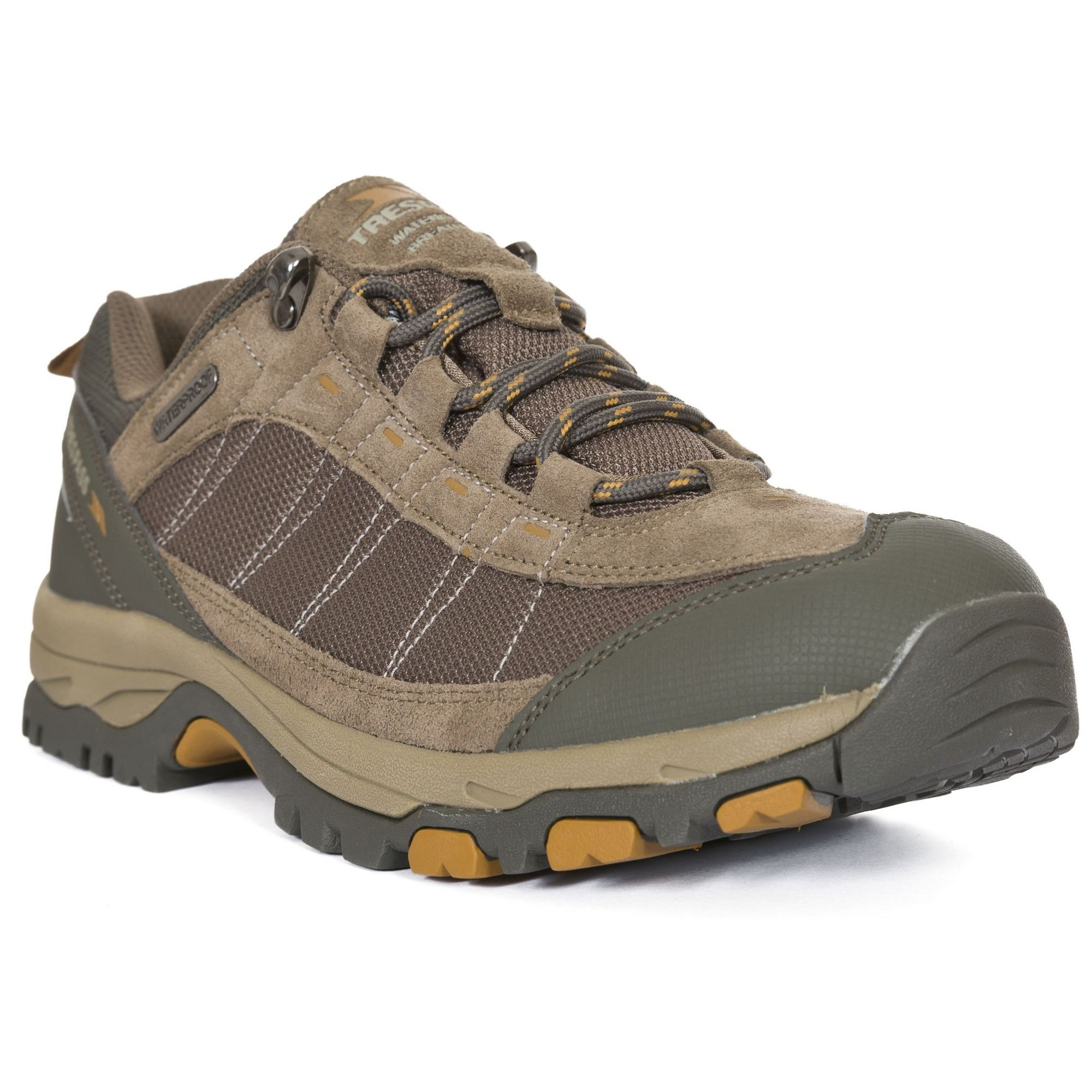 Trespass Mens Scarp Waterproof Lace Up Trainers (Brindle)