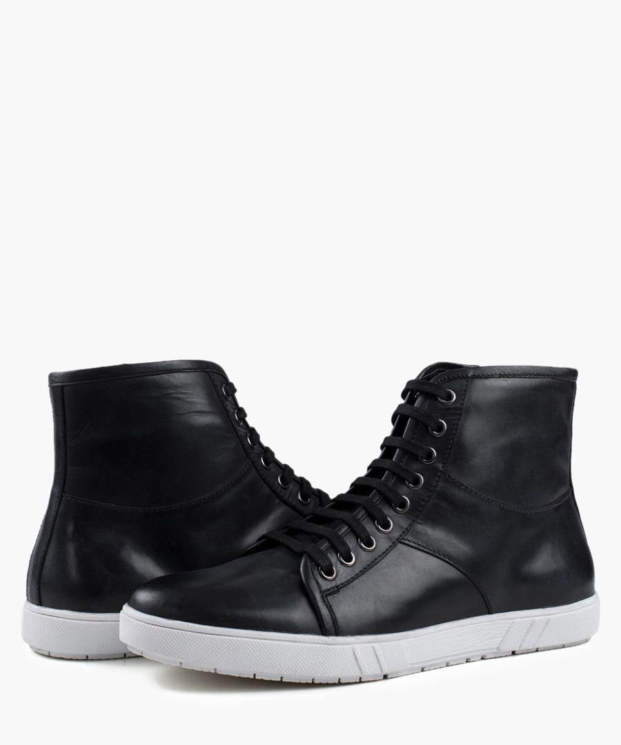 Black rubber hi-top Sneaker boots