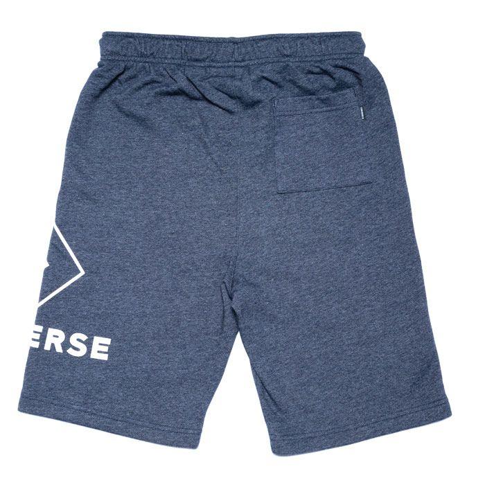 Boy's Converse Junior Wrap Around Logo F.T Shorts in Navy