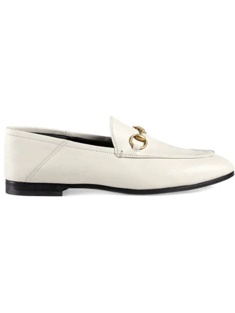 GUCCI WOMEN'S 414998DLC009022 WHITE LEATHER LOAFERS