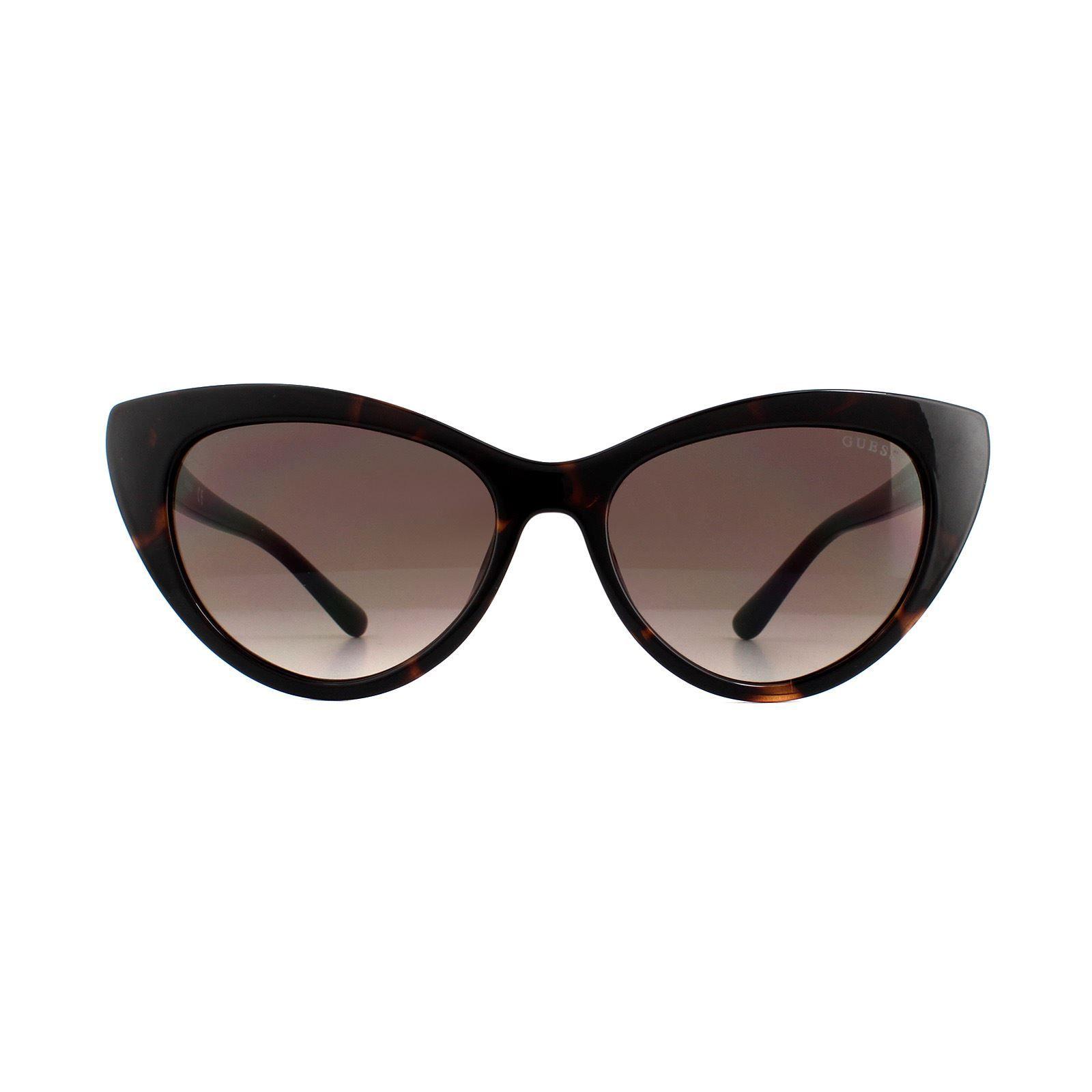 Guess Sunglasses GU7565 52F Dark Havana Brown Gradient