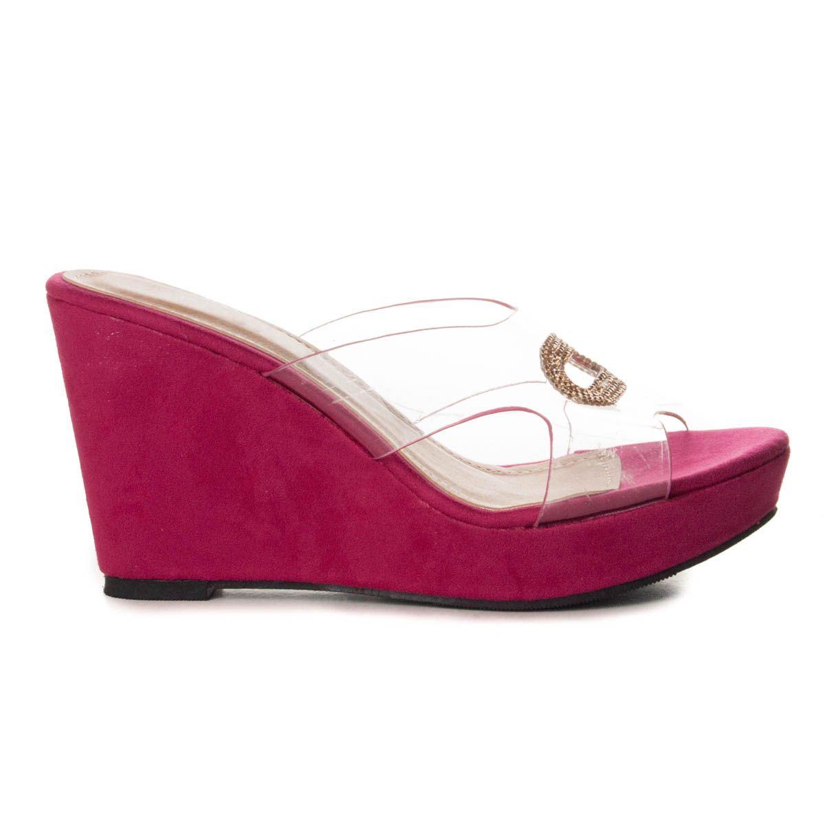 Montevita Chunky Heel Sandal in Fuchsia