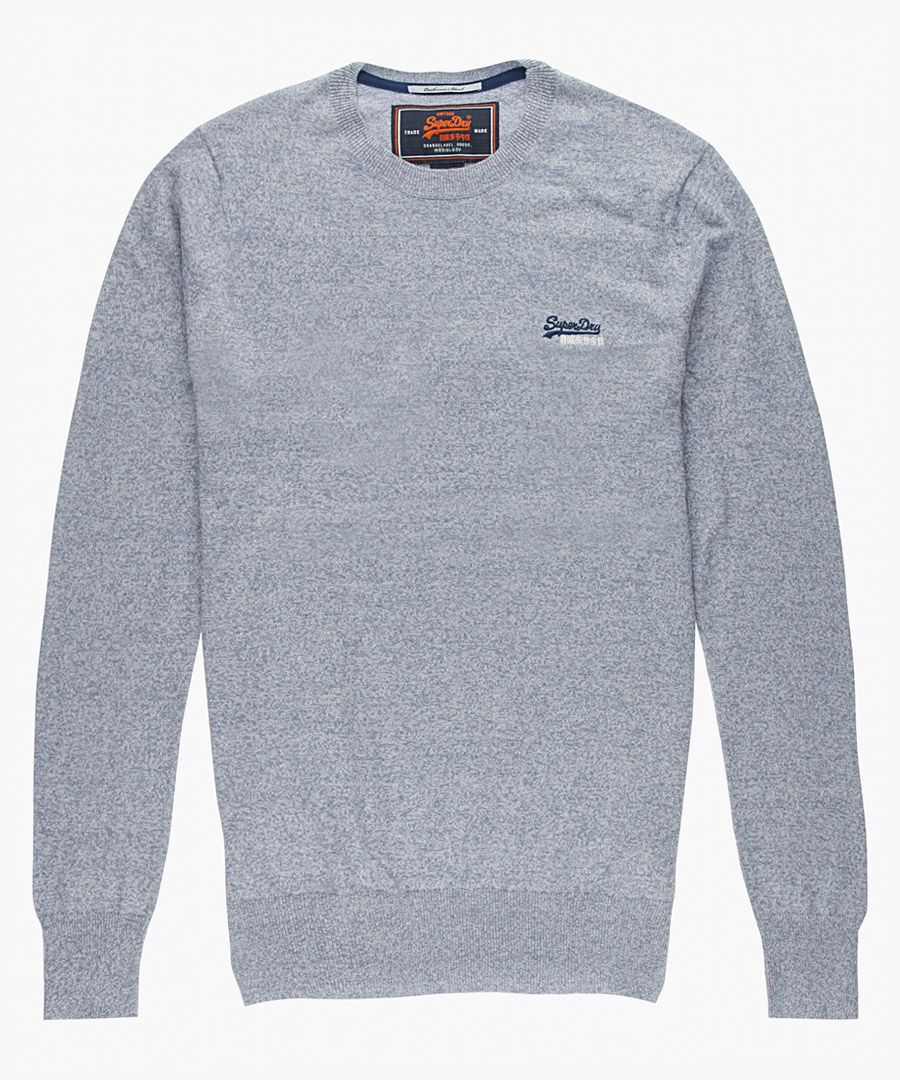 Orange Label grey cotton blend crewneck top