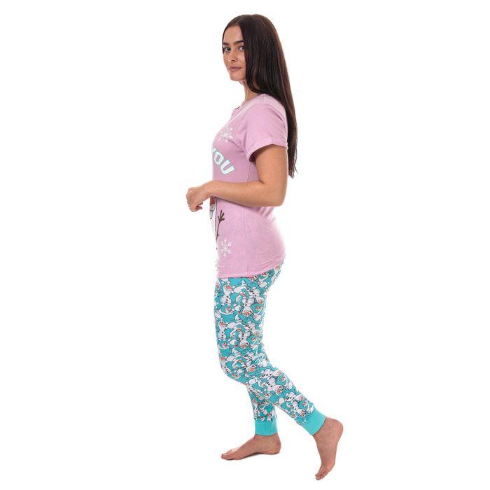 Women's Disney Frozen Pyjamas Purple 8-10in Purple