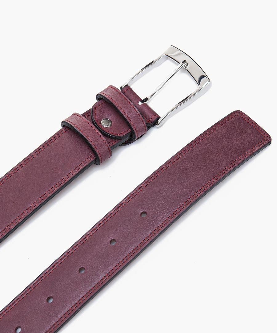 Bordeaux leather belt