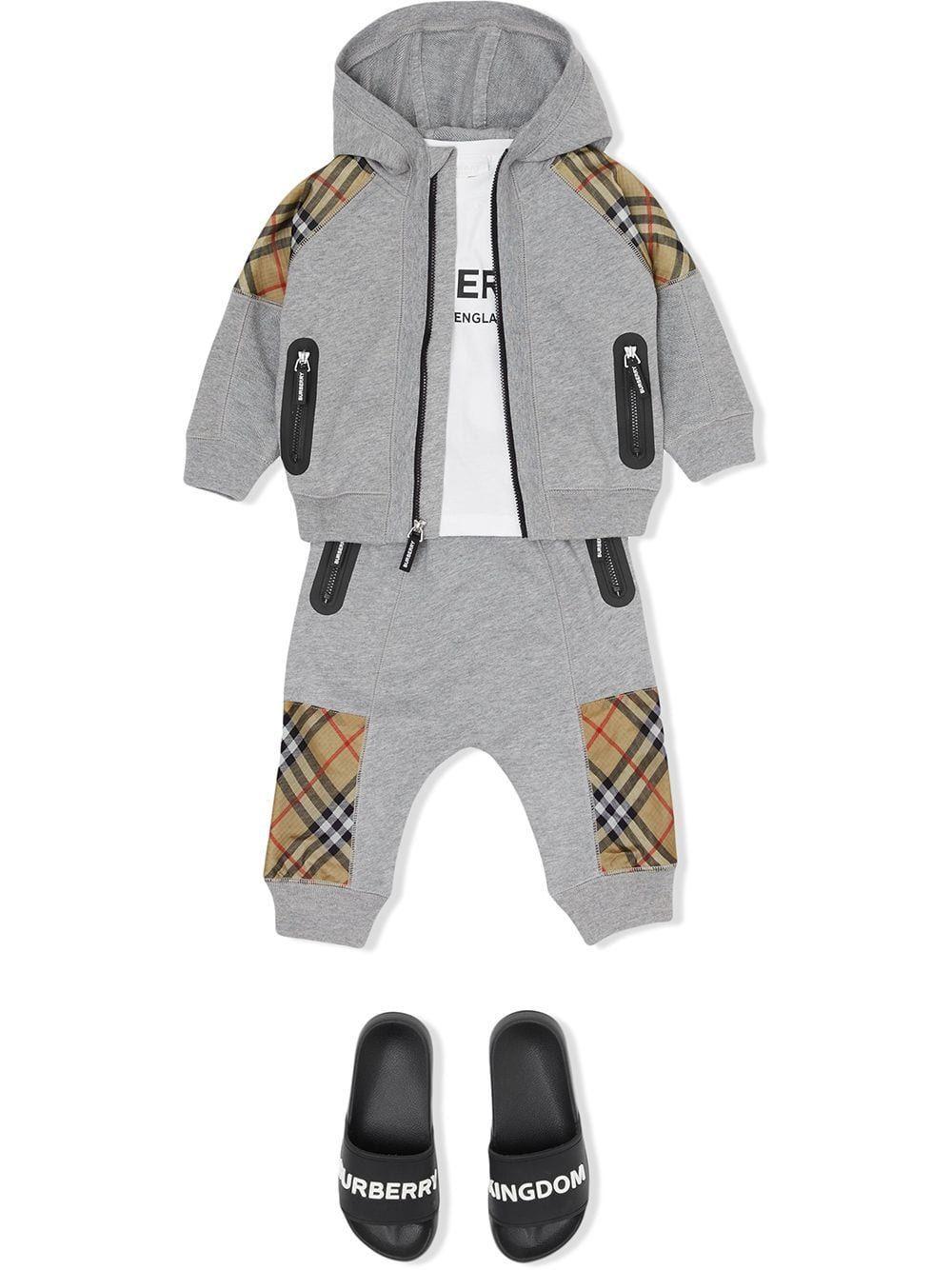 BURBERRY BABY BOYS 8011053 GREY COTTON SWEATSHIRT