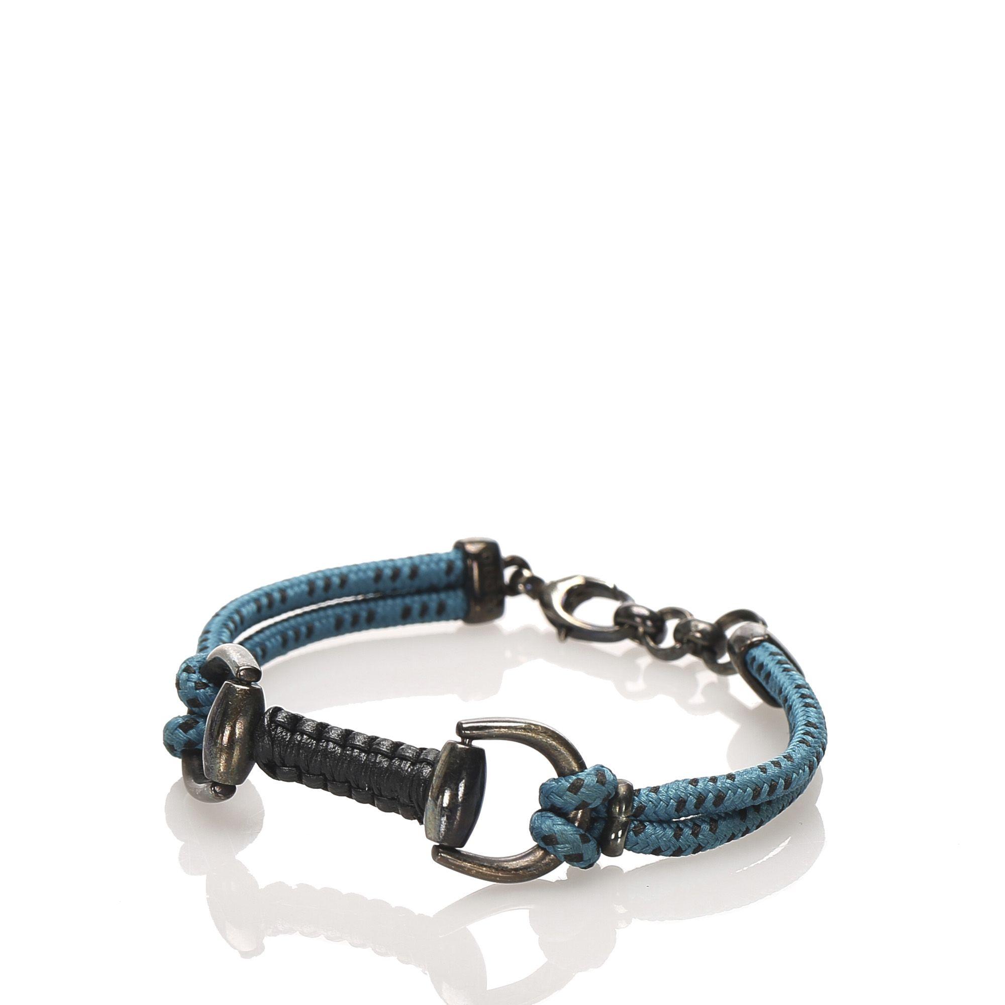 Vintage Gucci Cotton Bracelet Blue