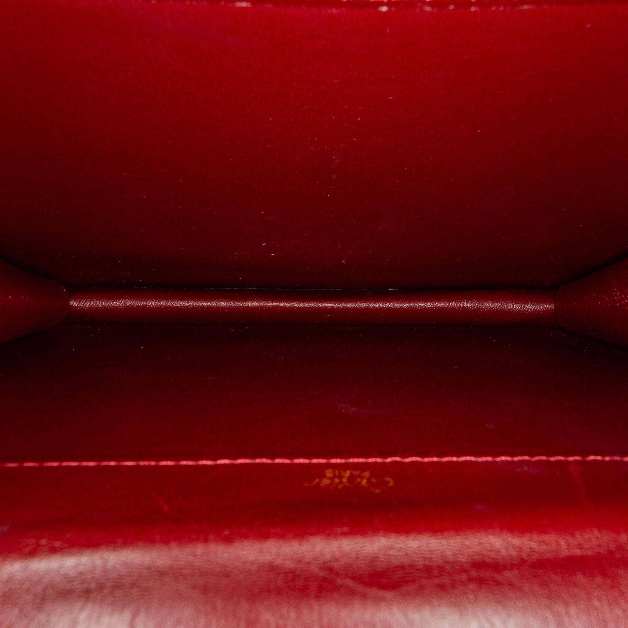 Vintage Cartier Must De Cartier Leather Clutch Bag Red