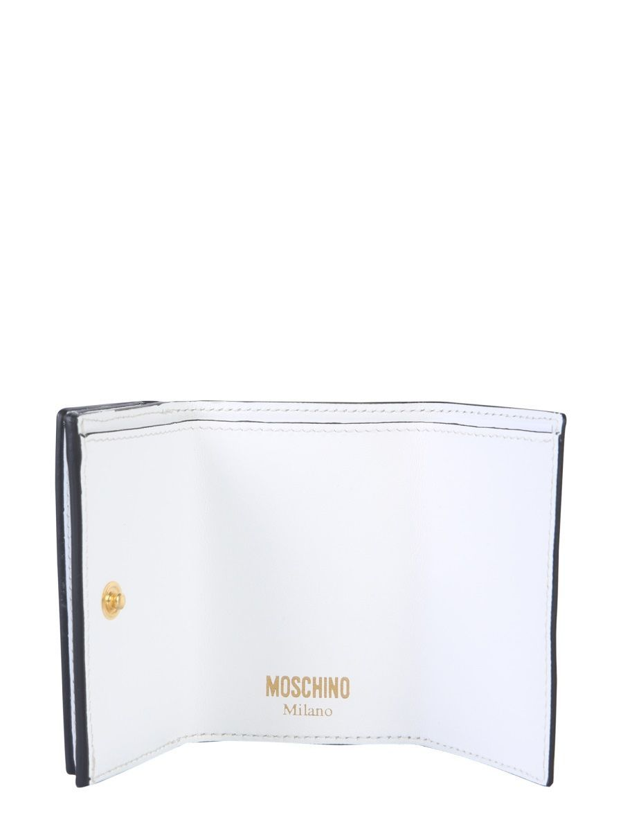 MOSCHINO WOMEN'S 810580011001 WHITE LEATHER WALLET