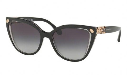 Bvlgari Cat eye plastic Unisex Sunglasses Transparent Grey / Grey Gradient