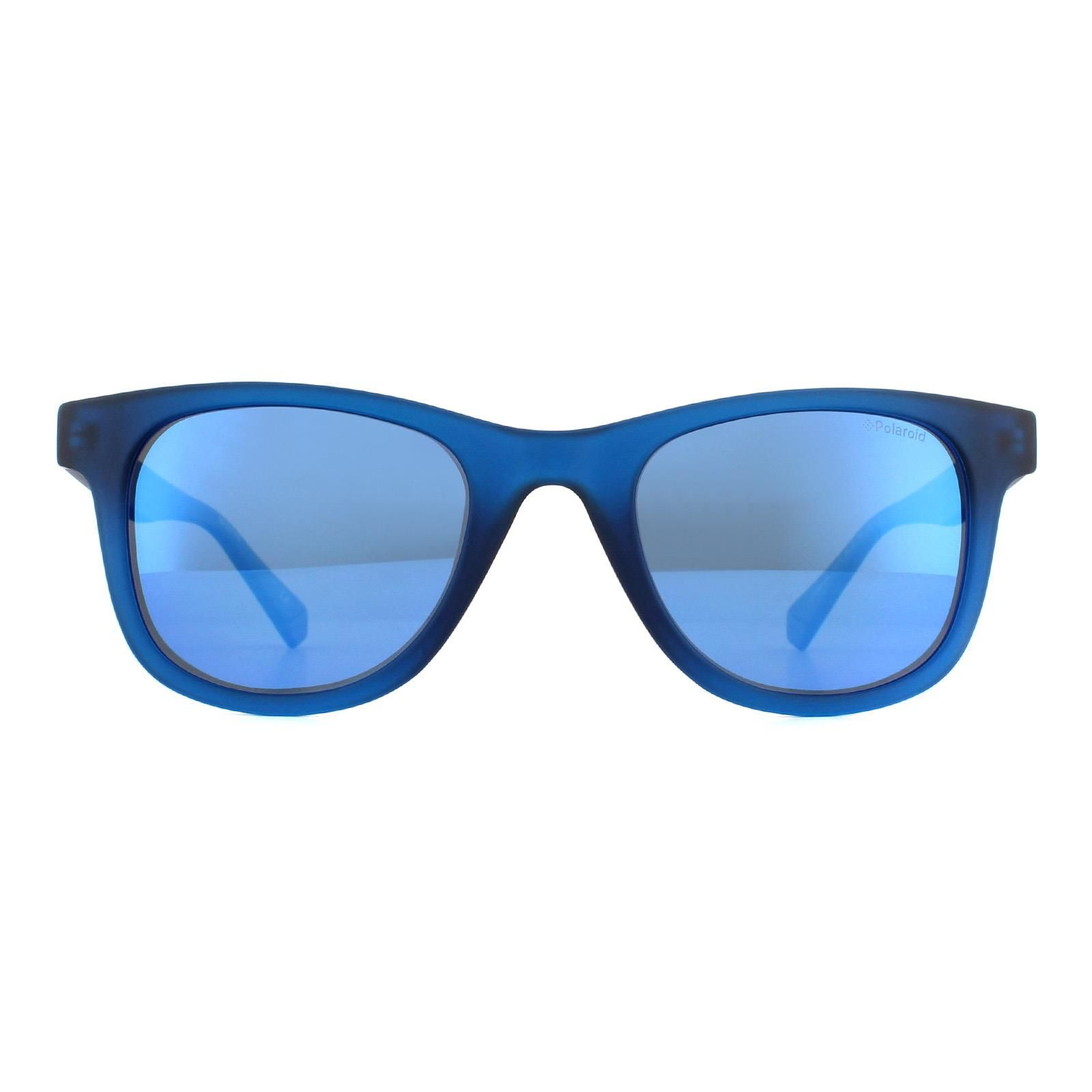 Polaroid Sunglasses PLD 1016/S/NEW PJP 5X Transparent Blue Blue Mirror Polarized