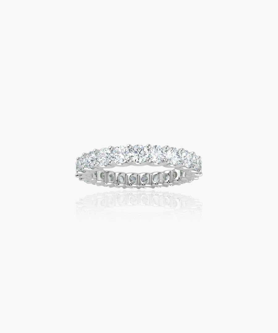 9k white gold and 1.00ct diamond eternity ring