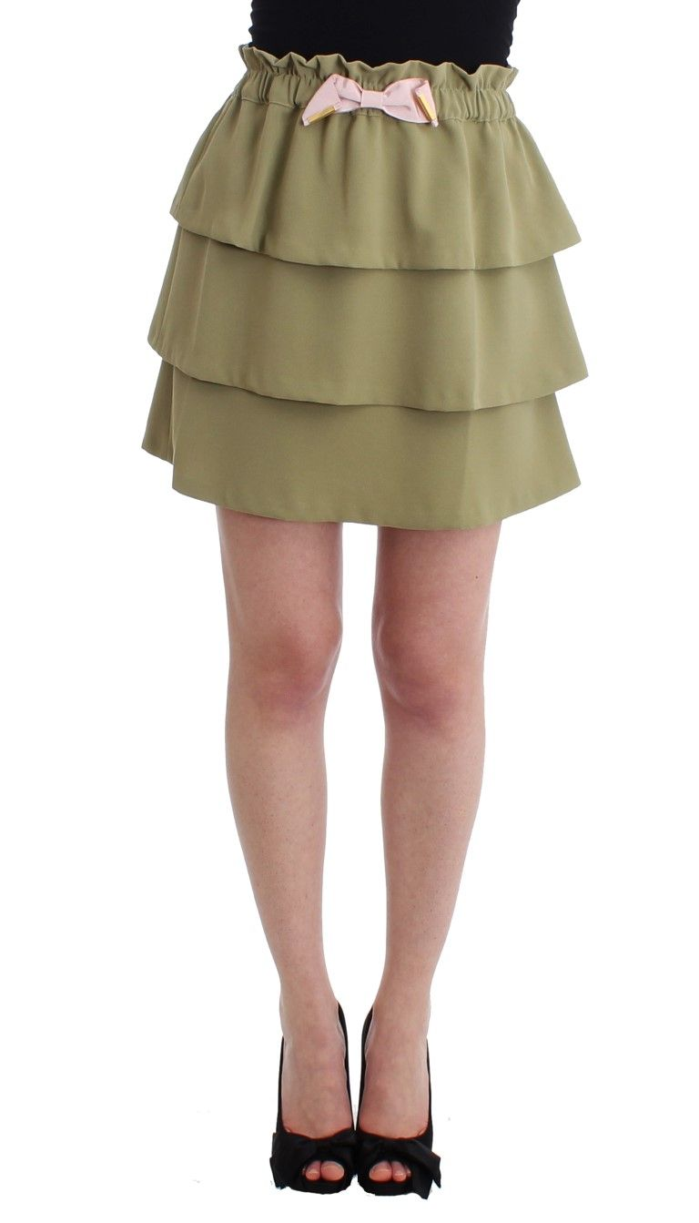 Cavalli Green mini skirt