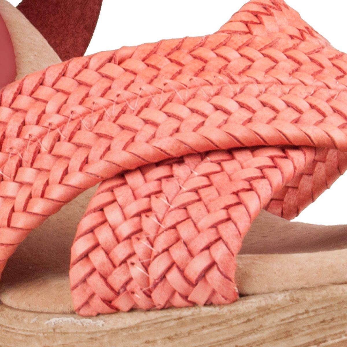 Montevita Chunky Heel Sandal in Red