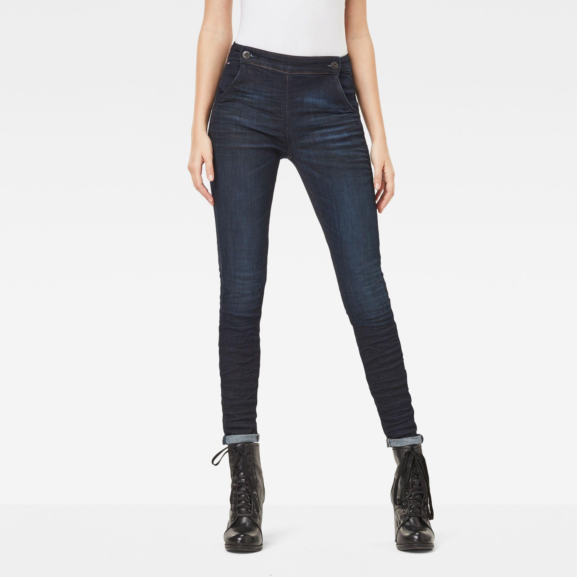 G-Star RAW 5622 Navy High Waist Skinny Jeans
