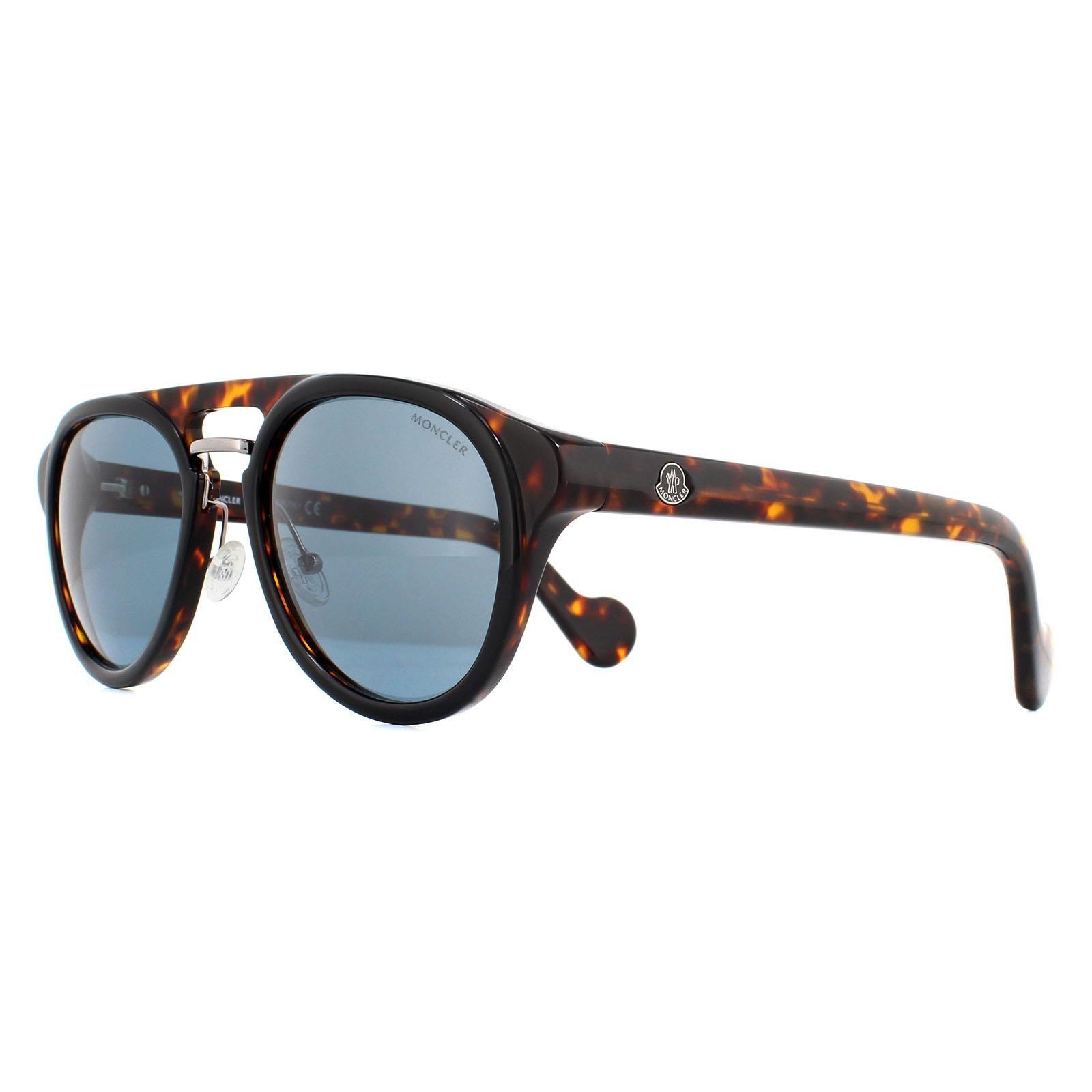 Moncler Sunglasses ML0020 05V Dark Havana Blue