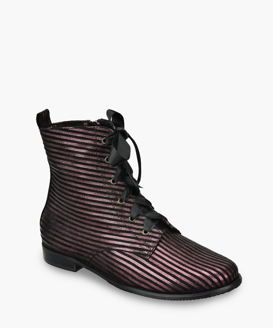 Multi-coloured leather boots