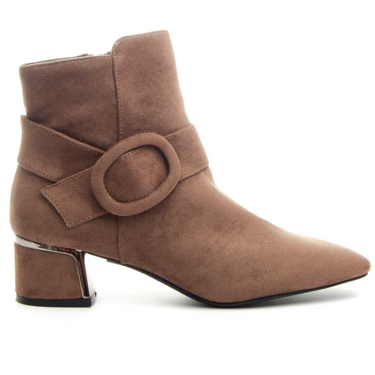 Montevita Heeled Ankle Boot in Taupe