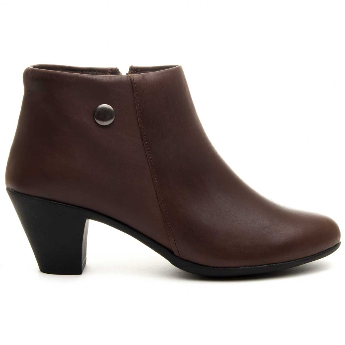 Purapiel Heeled Ankle Boot in Brown