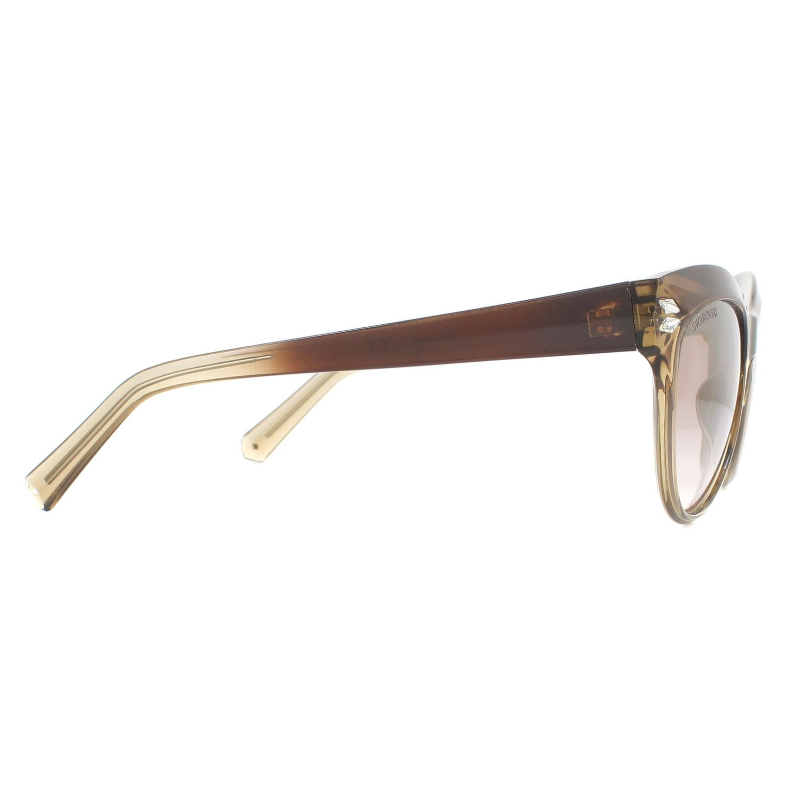 Swarovski Sunglasses SK0171 47G Brown Gradient Brown Gradient Gold Mirror