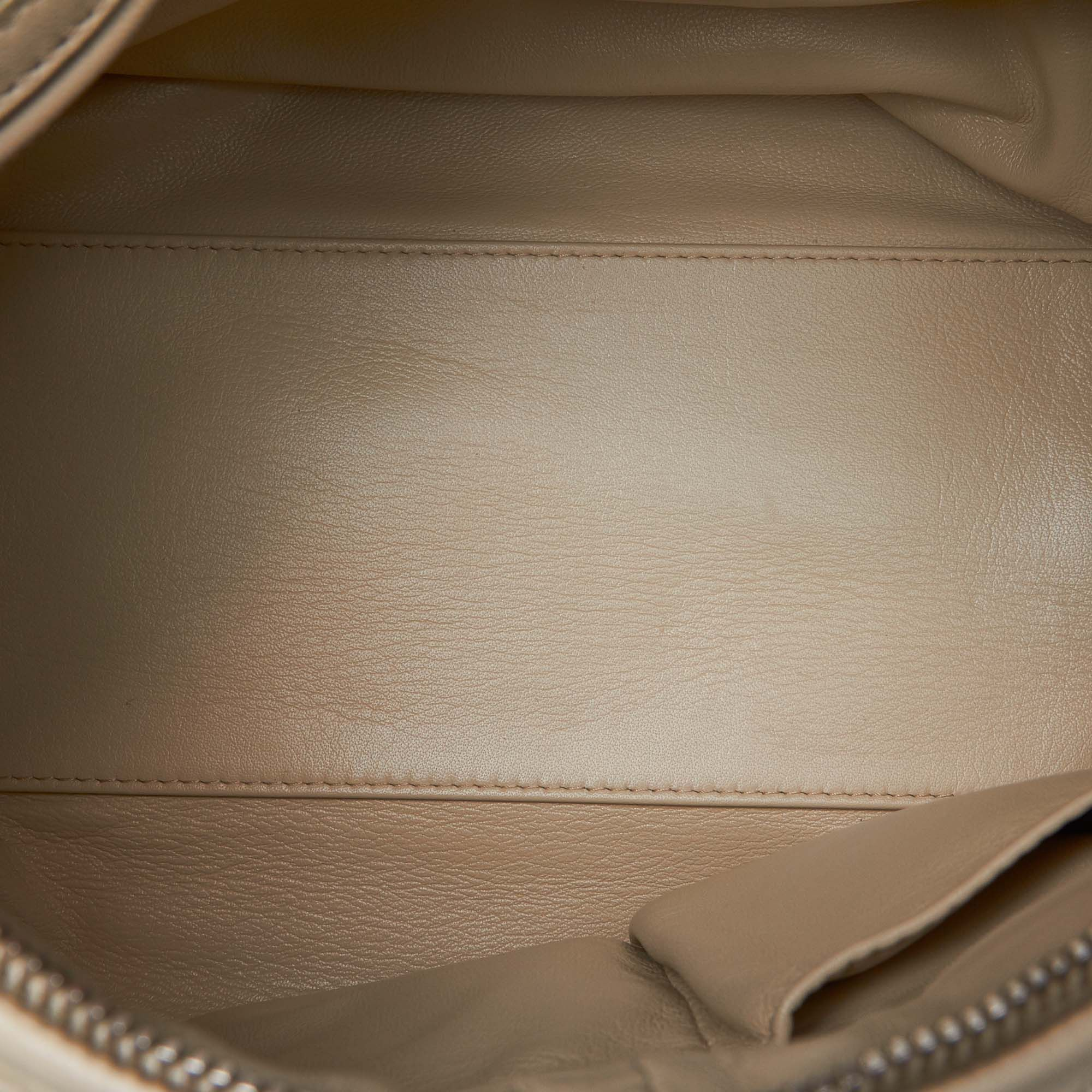 Vintage Dior Cannage Leather Crossbody Bag White