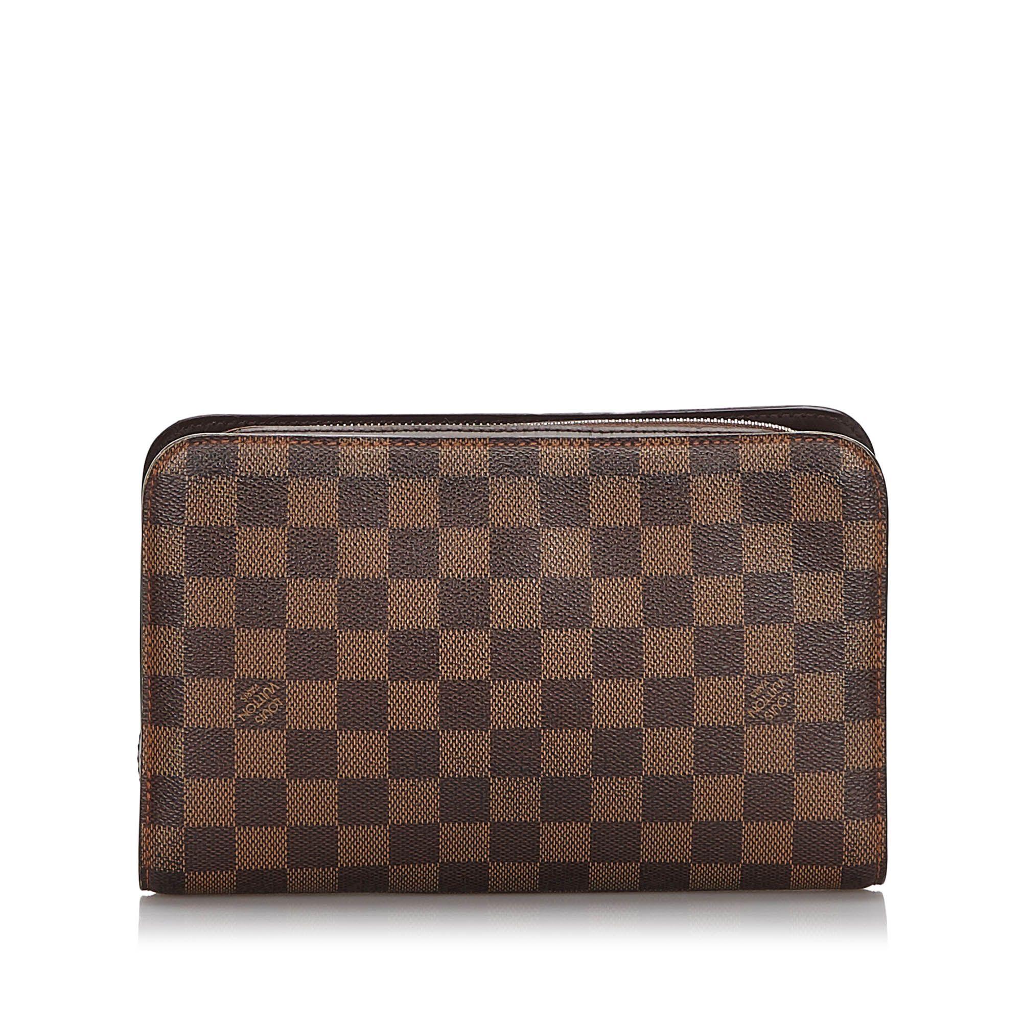 Vintage Louis Vuitton Damier Ebene Pochette Saint Paul Brown