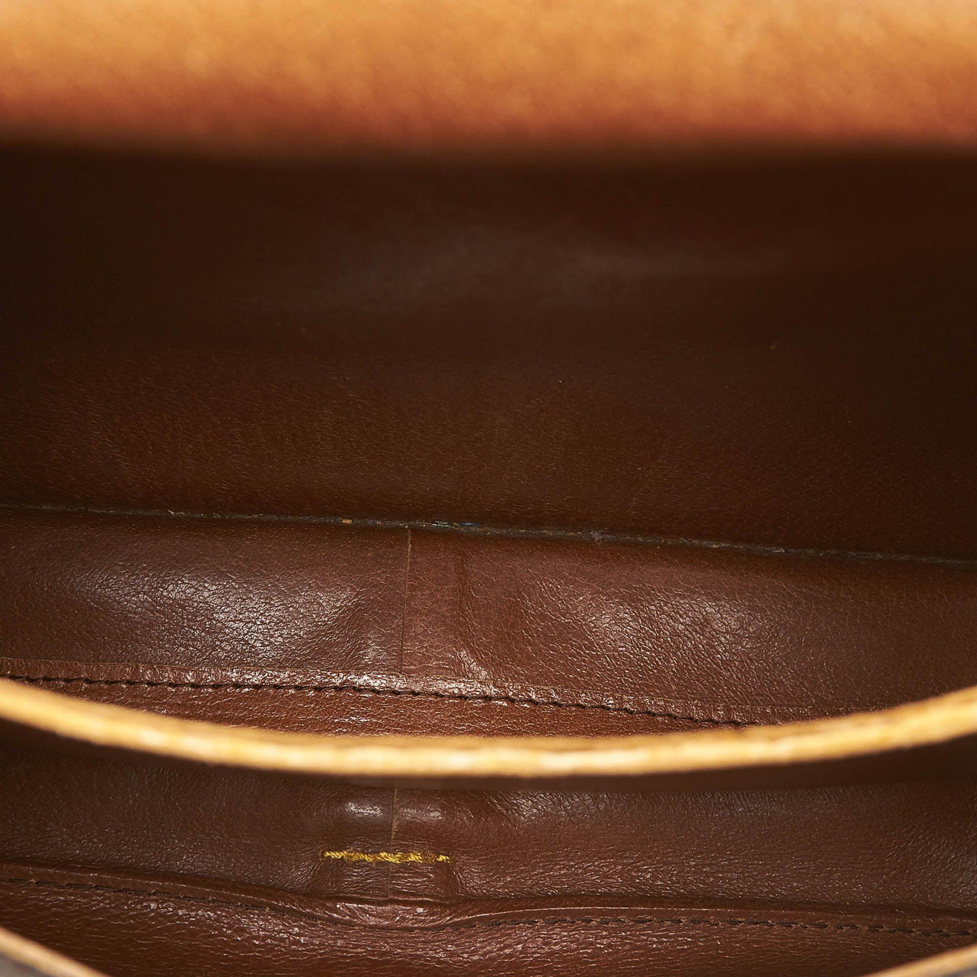 Vintage Louis Vuitton Monogram Cartouchiere GM Brown