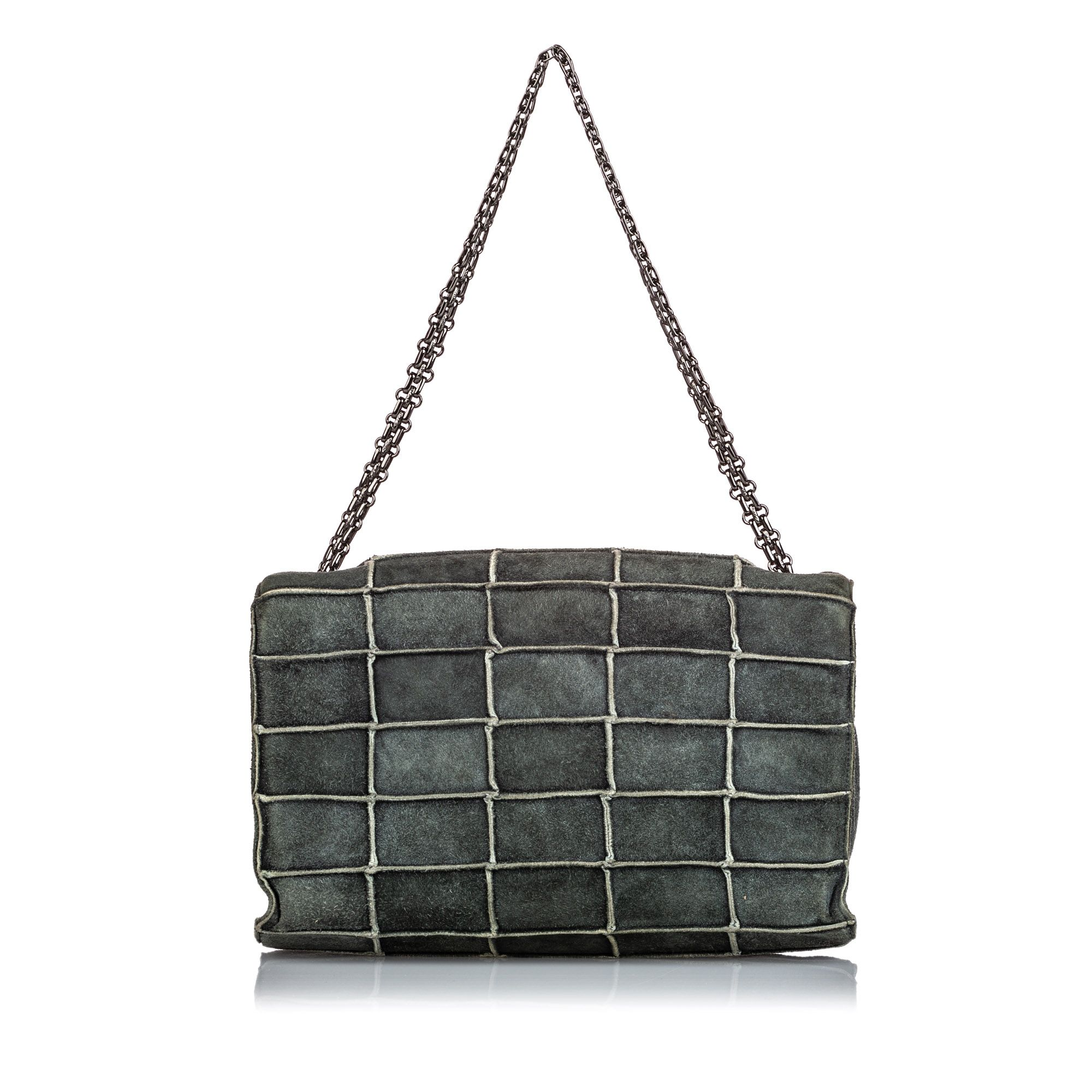 Vintage Chanel Reissue 225 Patchwork Flap Bag Gray