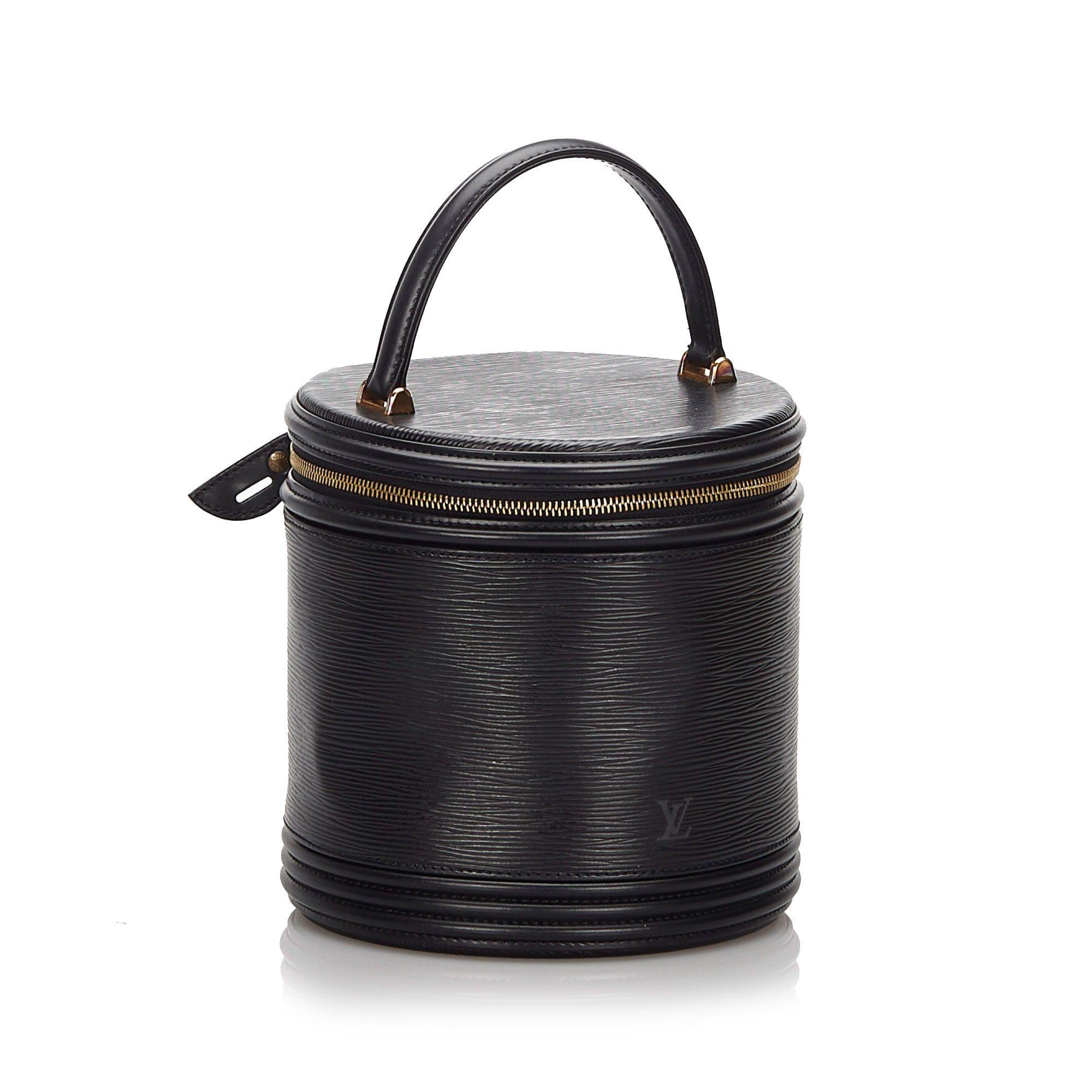 Vintage Louis Vuitton Epi Cannes Vanity Case Black