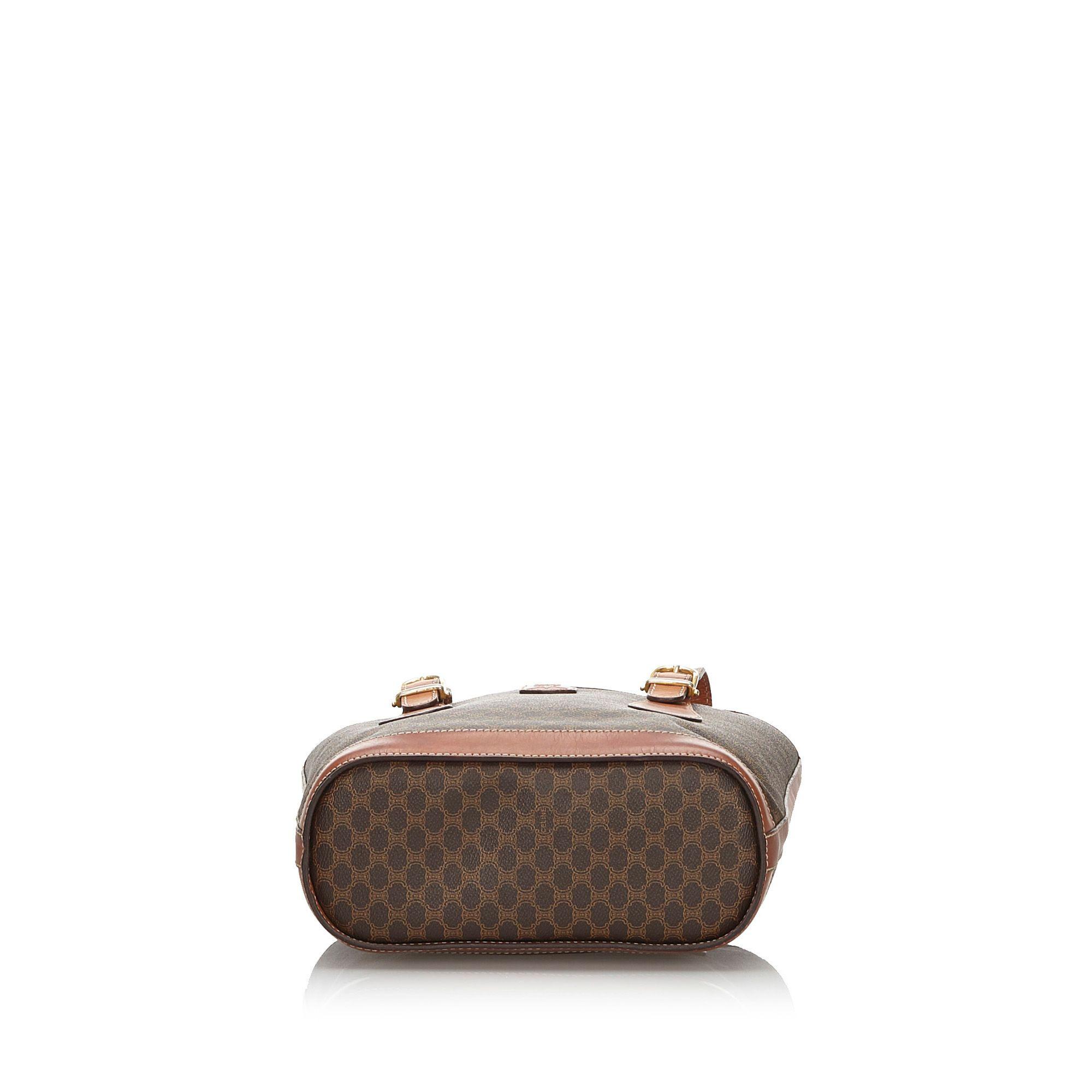 Vintage Celine Macadam Tote Bag Brown