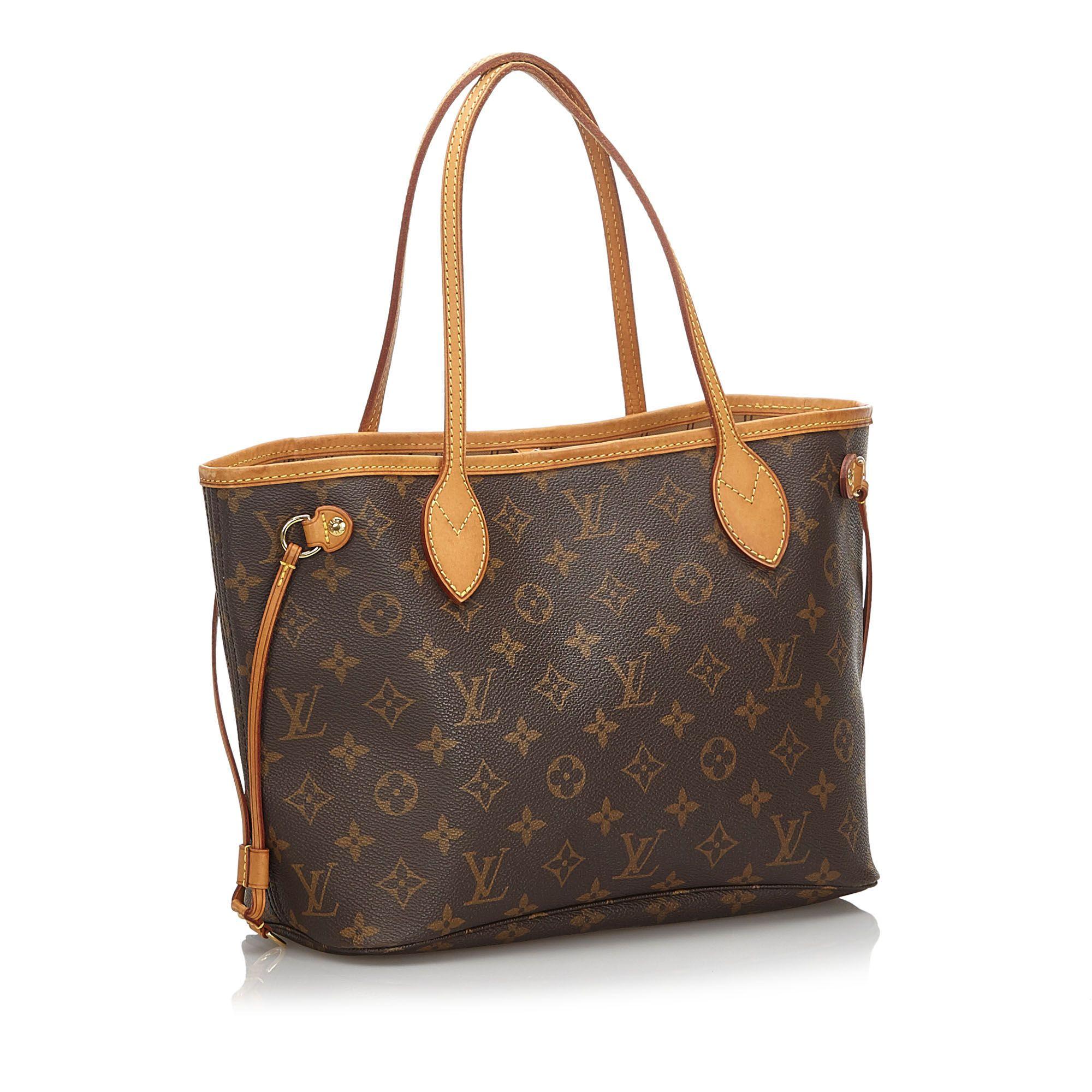 Vintage Louis Vuitton Monogram Neverfull PM Brown