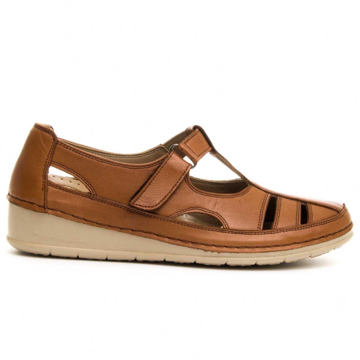 Purapiel Comfortable Sandal in Camel