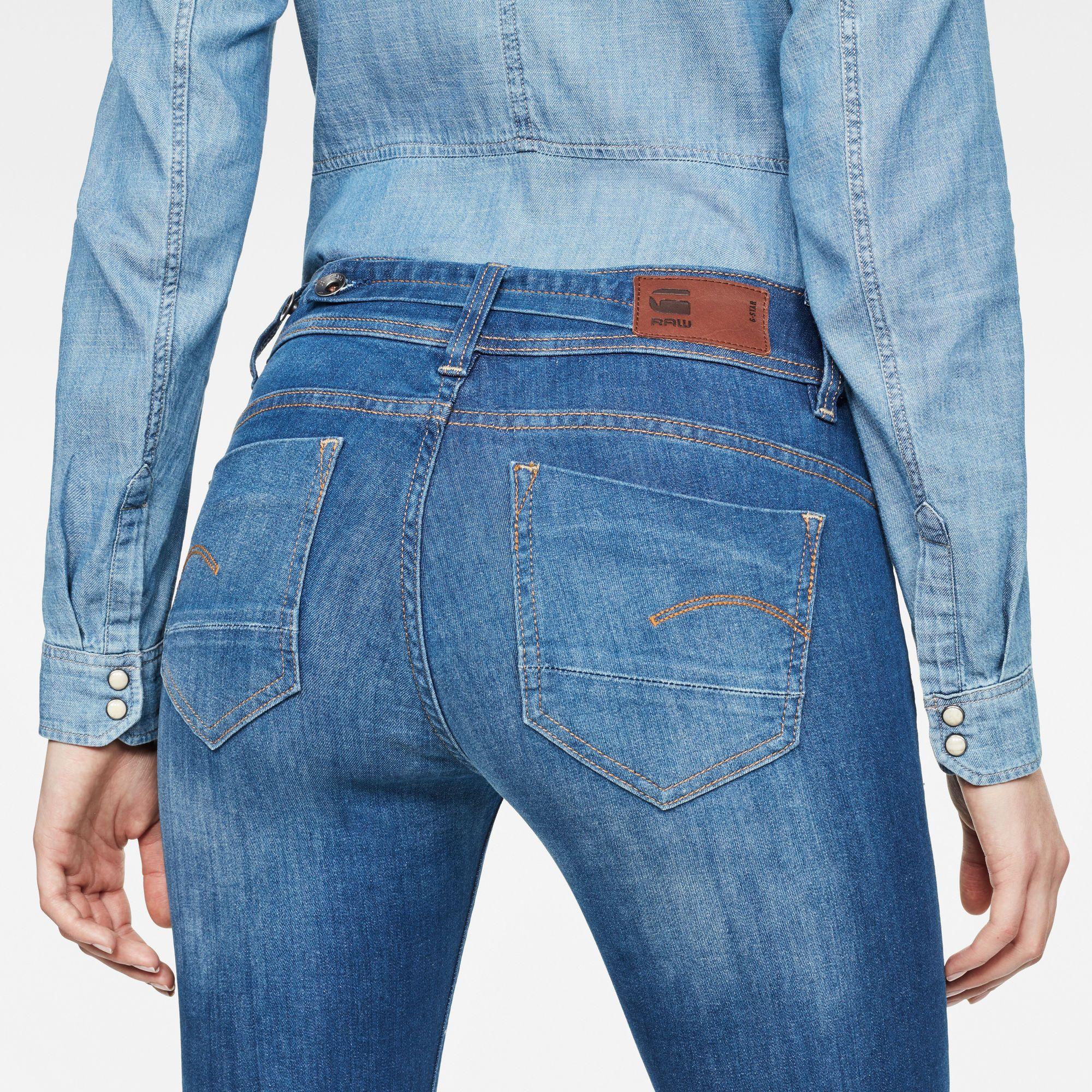G-Star RAW Midge Saddle Mid Waist Straight Jeans