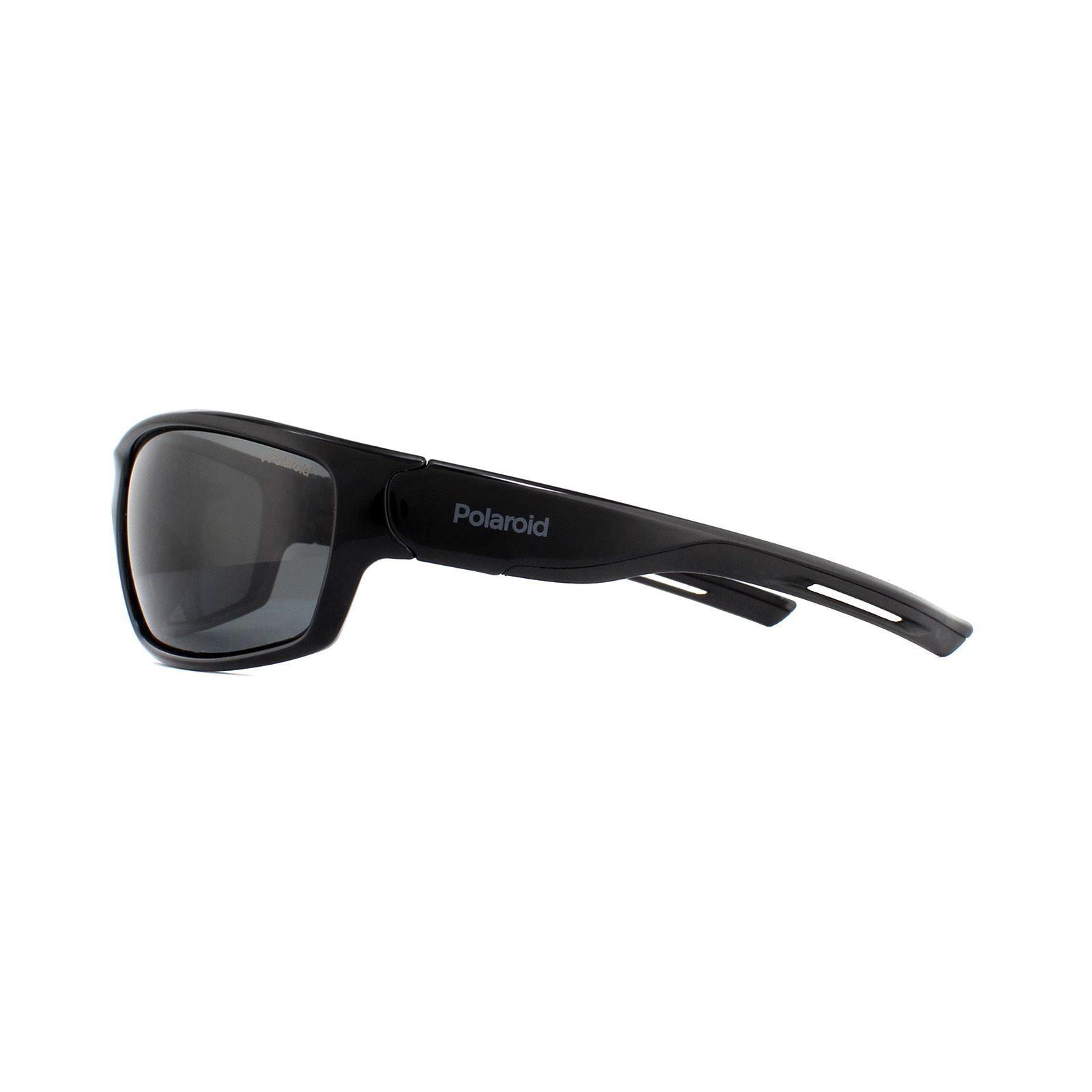 Polaroid Sport Sunglasses 7029/S 807 M9 Black Grey Polarized
