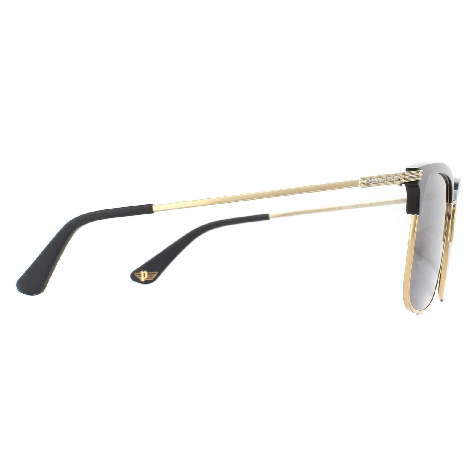 Police Sunglasses SPL576E Empire 2 0300 Shiny Rose Gold and Black Smoke