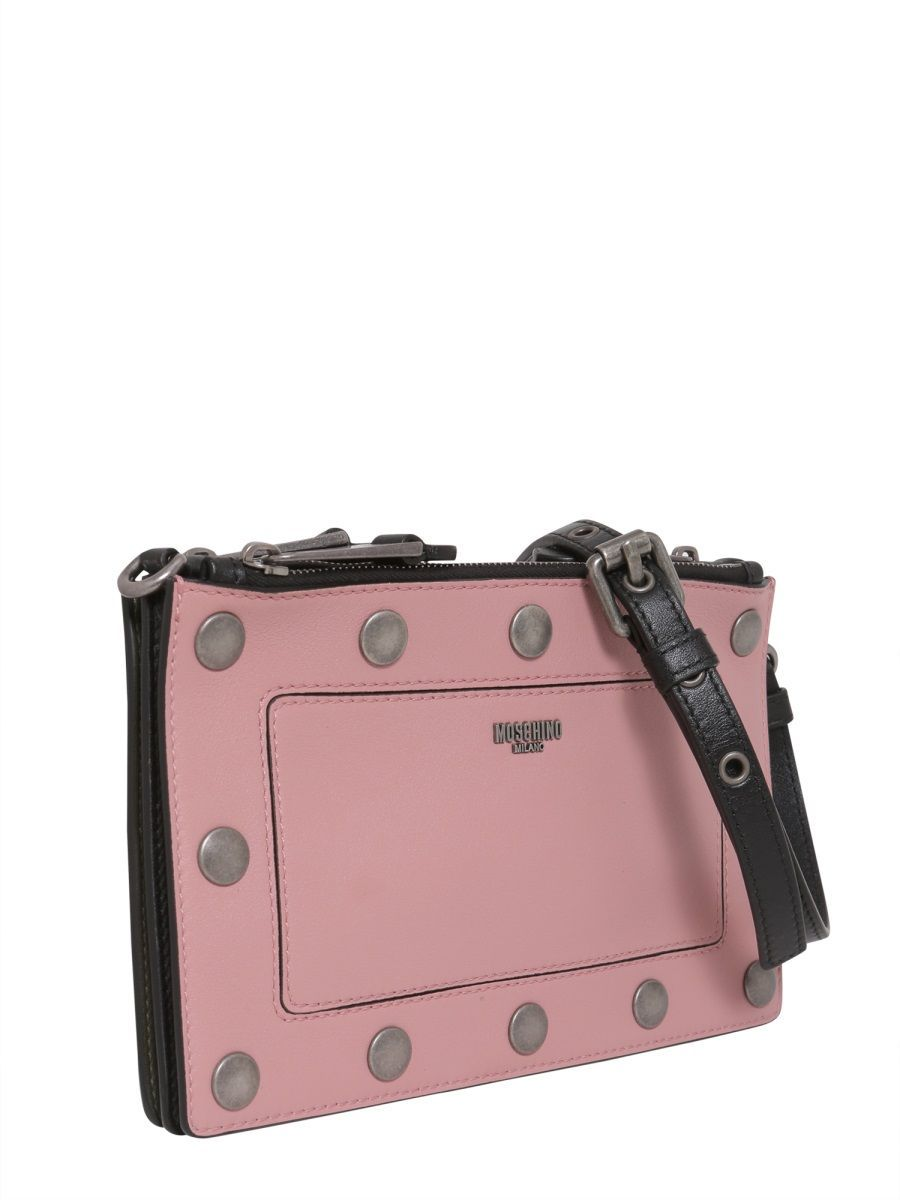 MOSCHINO WOMEN'S 745680064555 PINK LEATHER POUCH