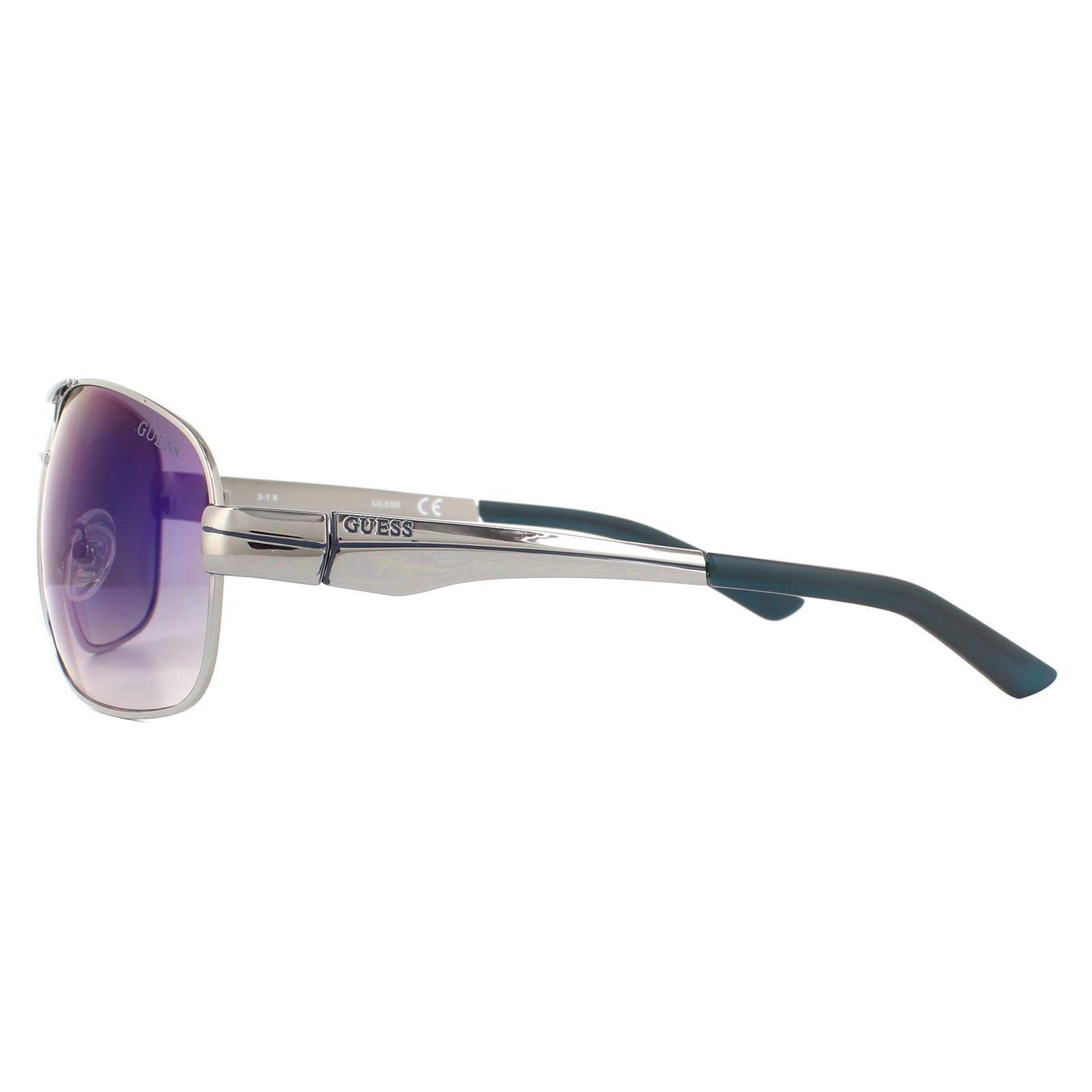 Guess Sunglasses GF5021 08X Silver Purple Polarized