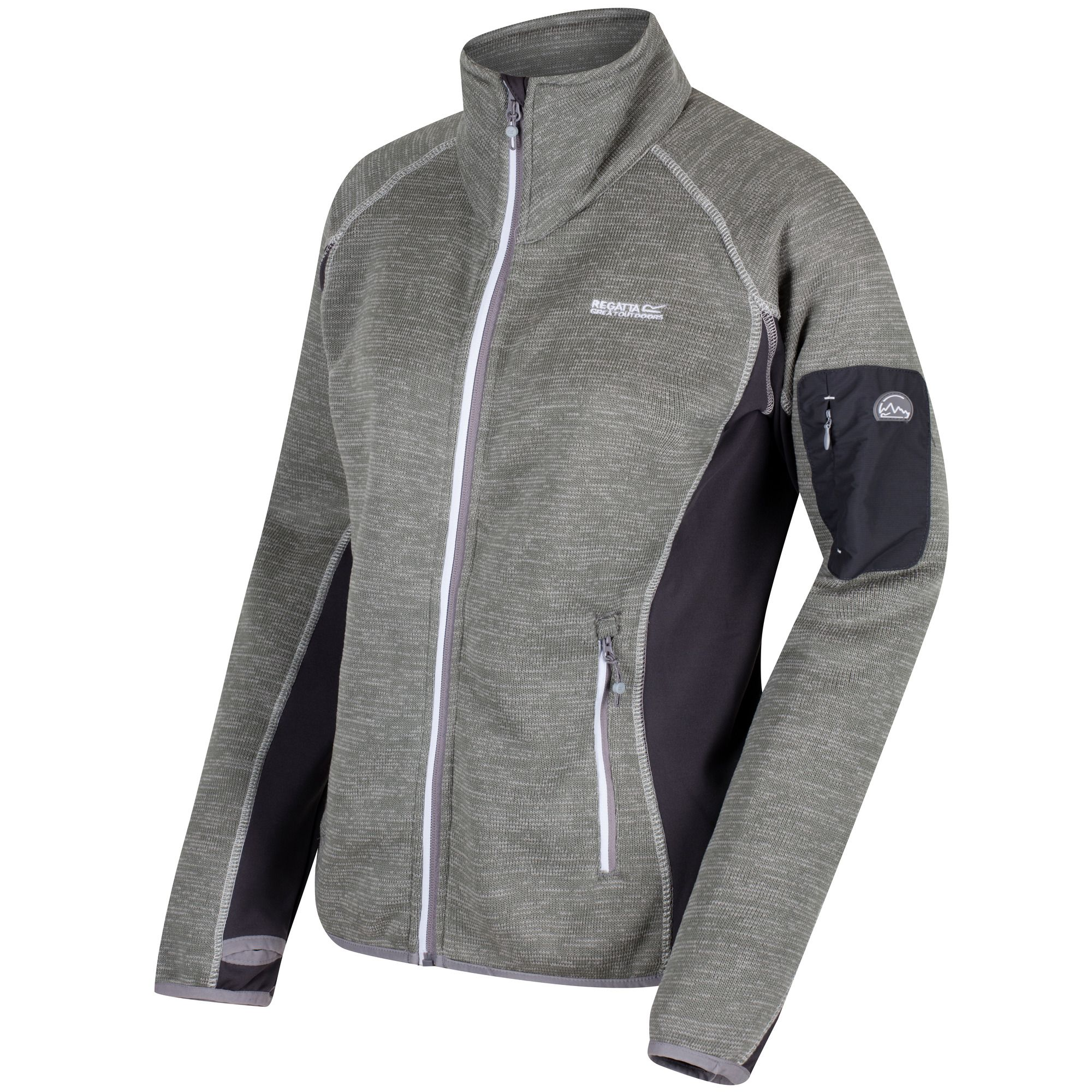Regatta Great Outdoors Womens/Ladies Laney III Fleece Jacket (Rock Grey/Seal Grey)