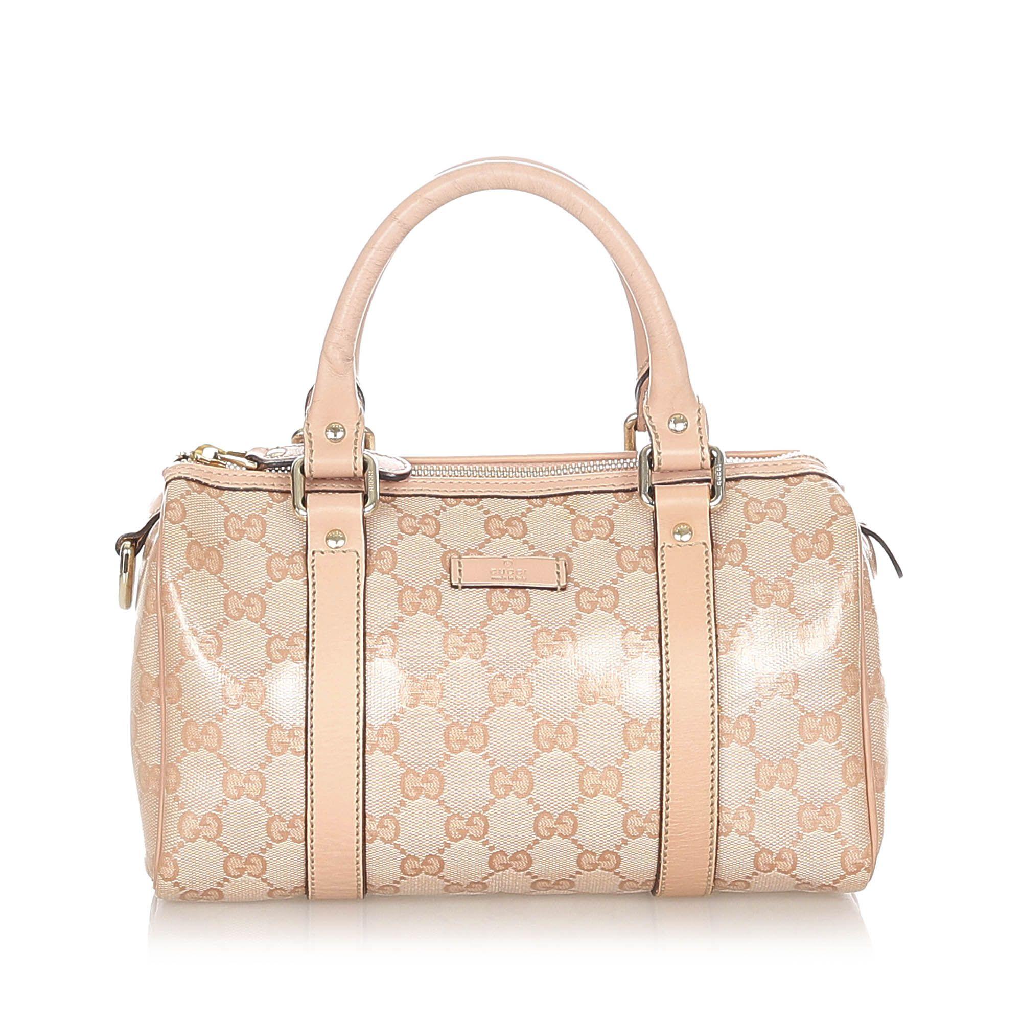 Vintage Gucci GG Crystal Joy Boston Bag Pink