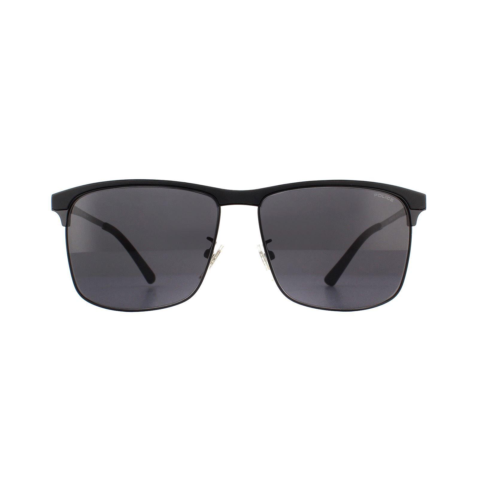 Police Sunglasses SPL570C 0530 Shiny Black Grey