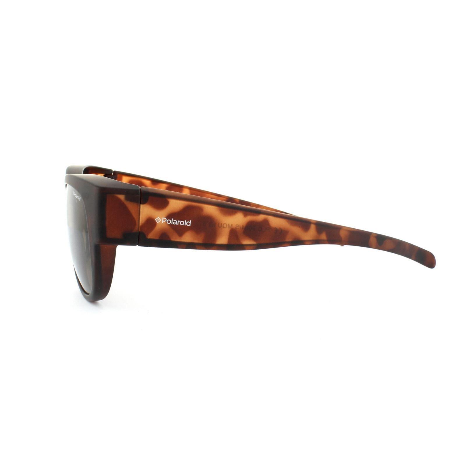 Polaroid Suncovers Fitover Sunglasses 9004/S MQU IG Dark Havana Brown Polarized