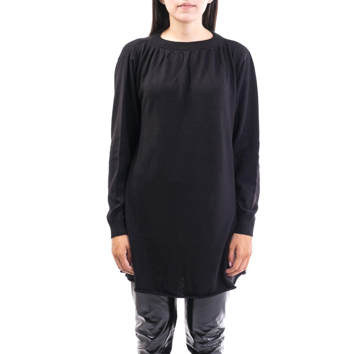 LIVIANA CONTI WOMEN'S F9AA20Y690 BLACK WOOL DRESS