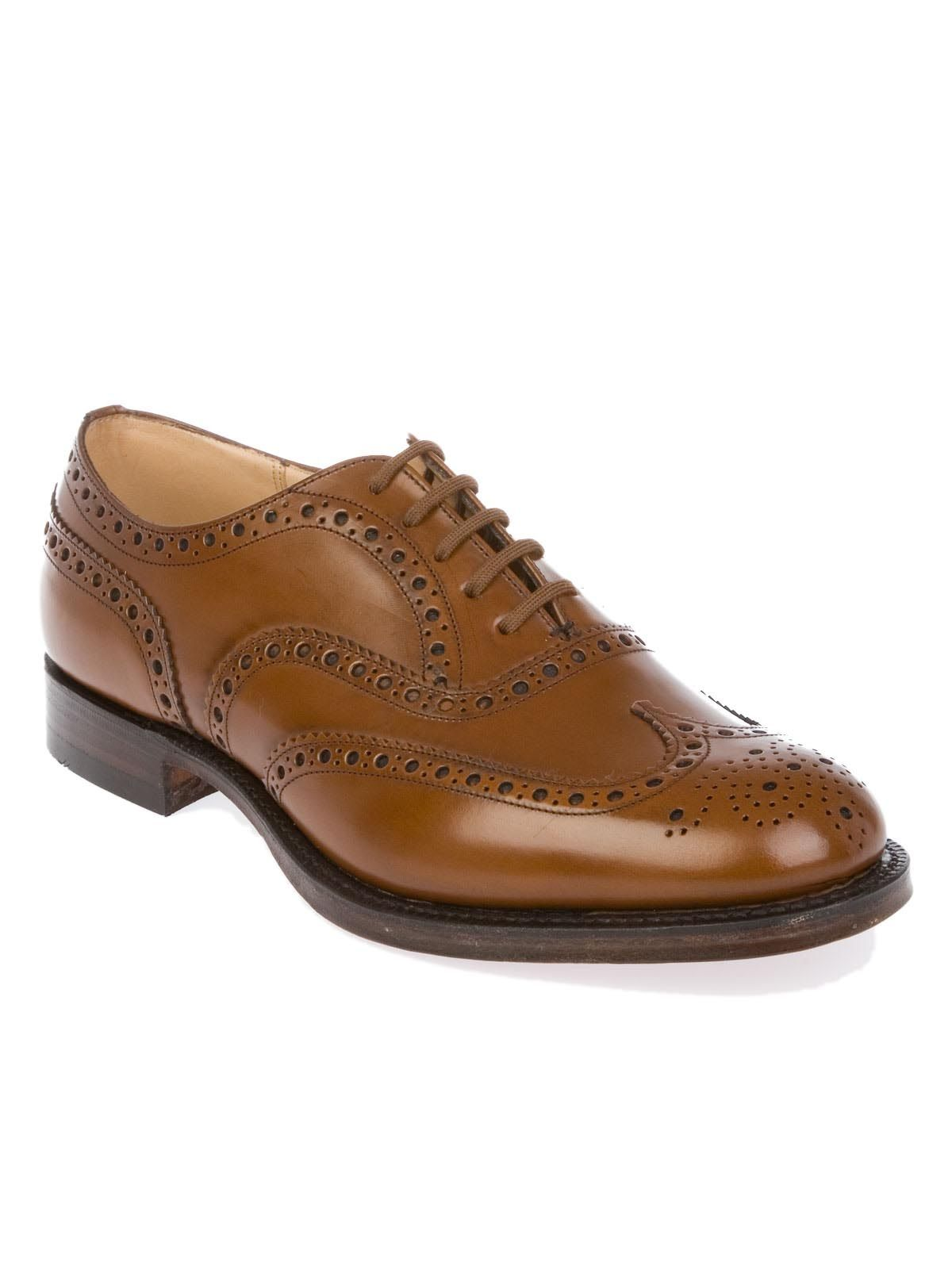 CHURCH'S MEN'S BURWOODSANDALWOOD BROWN LEATHER LACE-UP SHOES