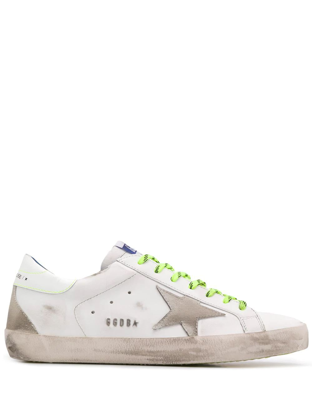 GOLDEN GOOSE MEN'S G36MS590U67 WHITE LEATHER SNEAKERS