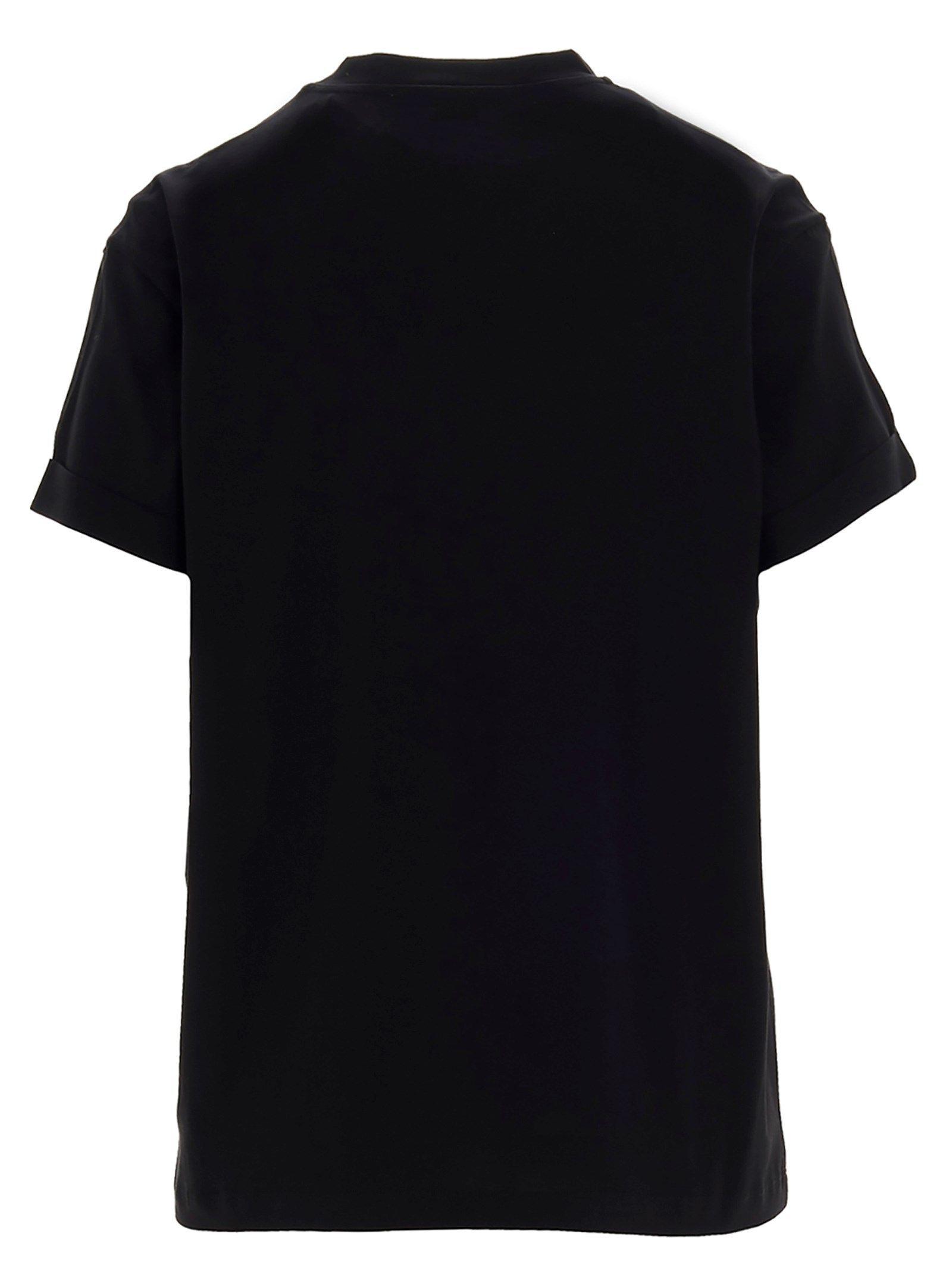 STELLA MCCARTNEY WOMEN'S 457142SIW201000 BLACK COTTON T-SHIRT
