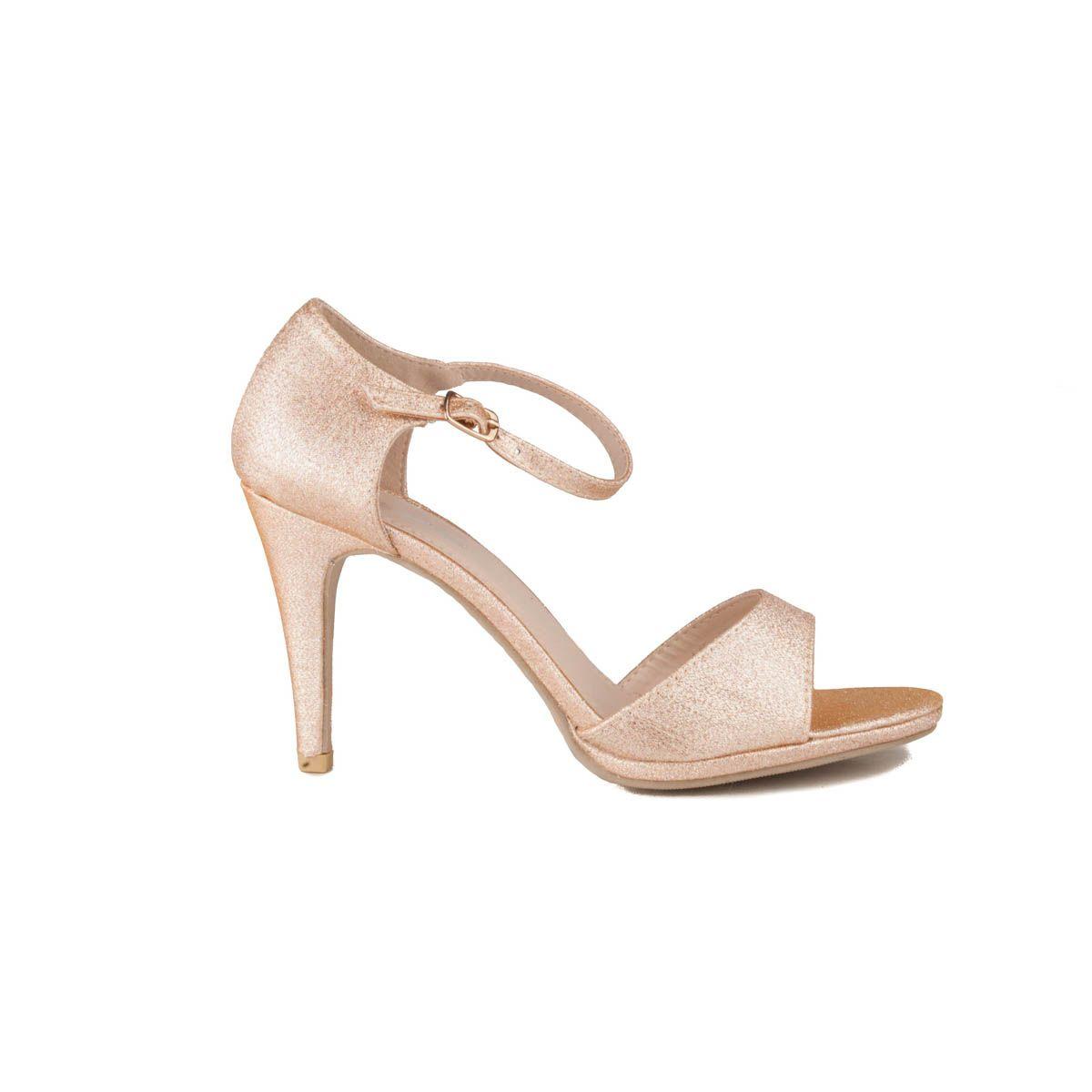 Montevita Heeled Sandal in Gold
