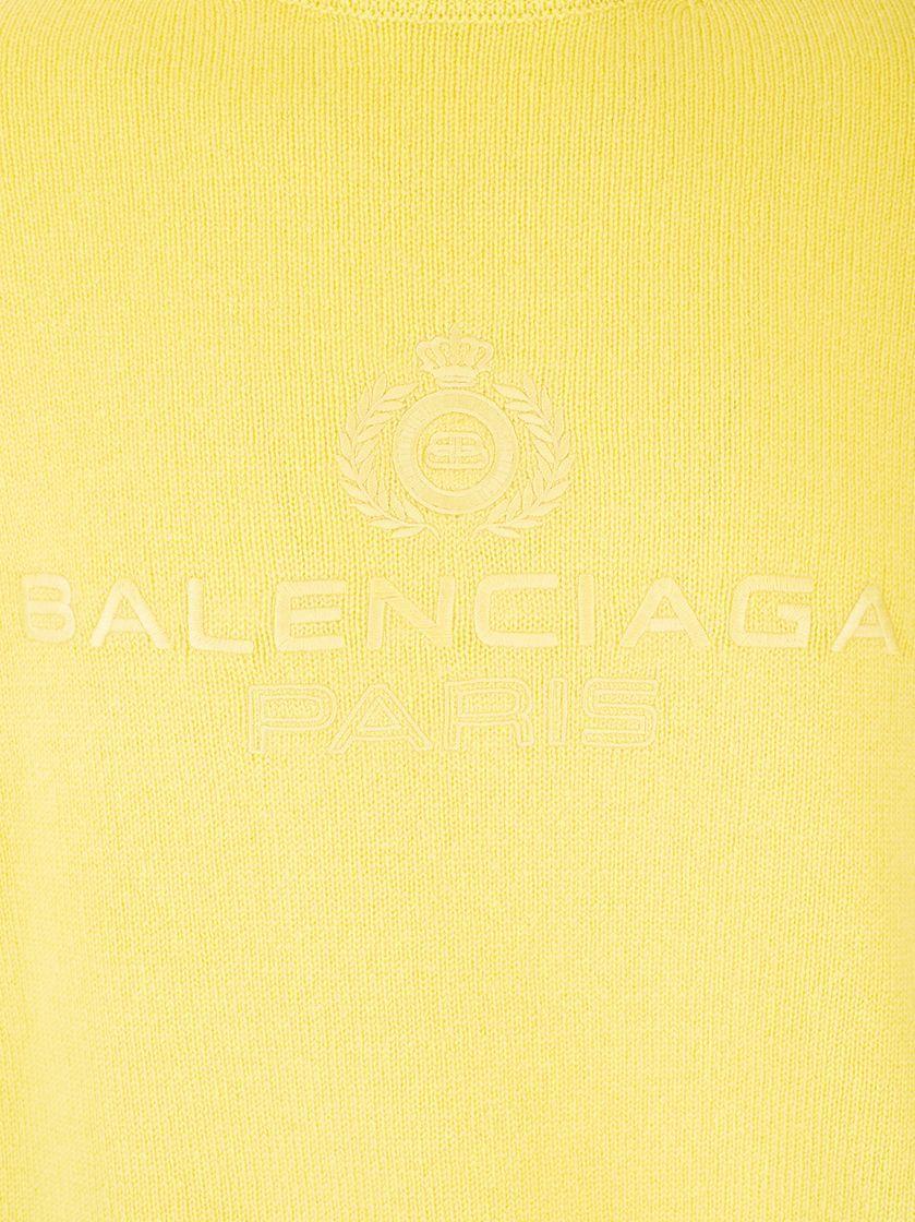 BALENCIAGA MEN'S 594740T40987050 YELLOW CASHMERE SWEATER